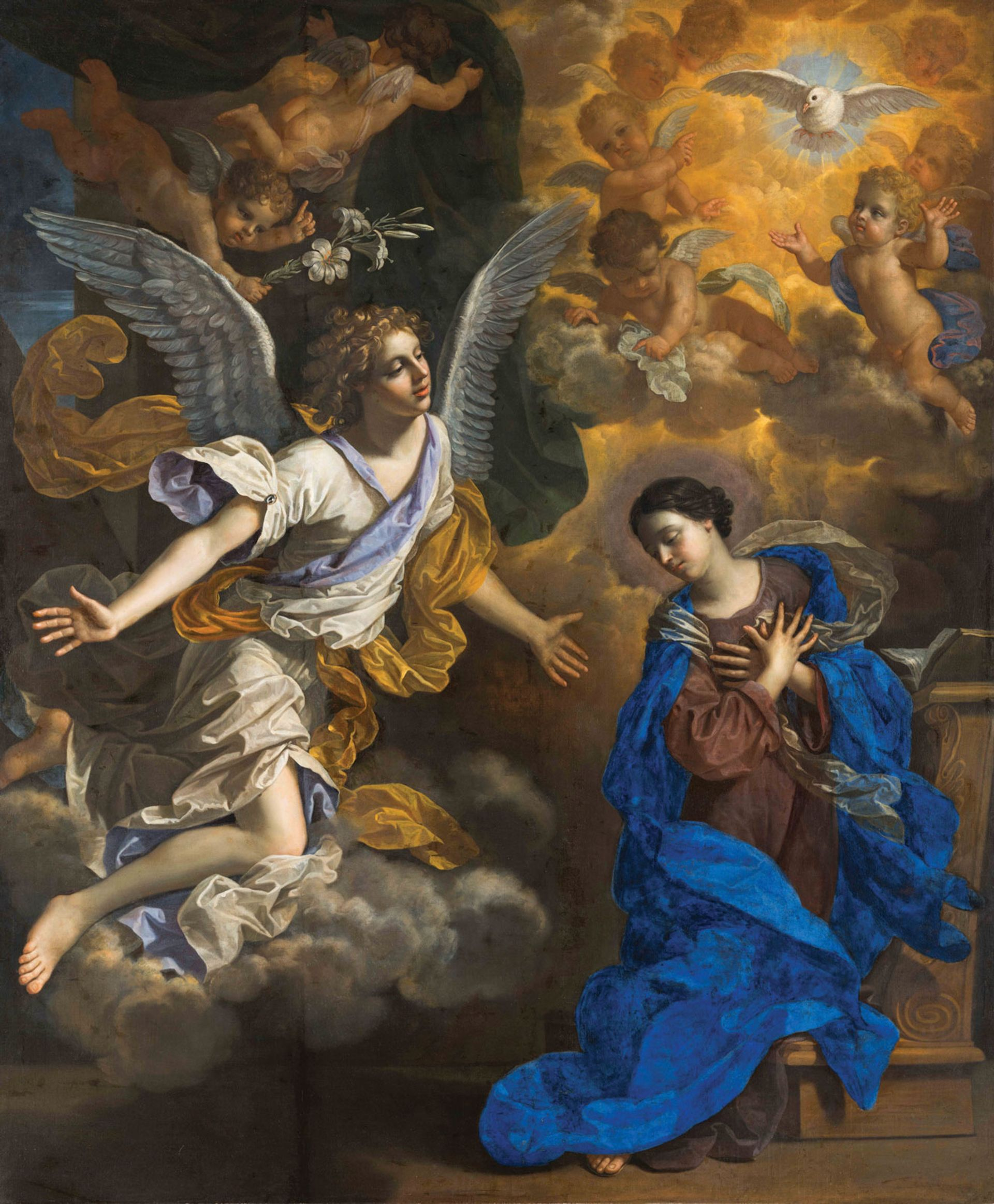 Benedetto Gennari's The Annunciation (1686) The Ringling, Sarasota, Florida. Bequest of John Ringling