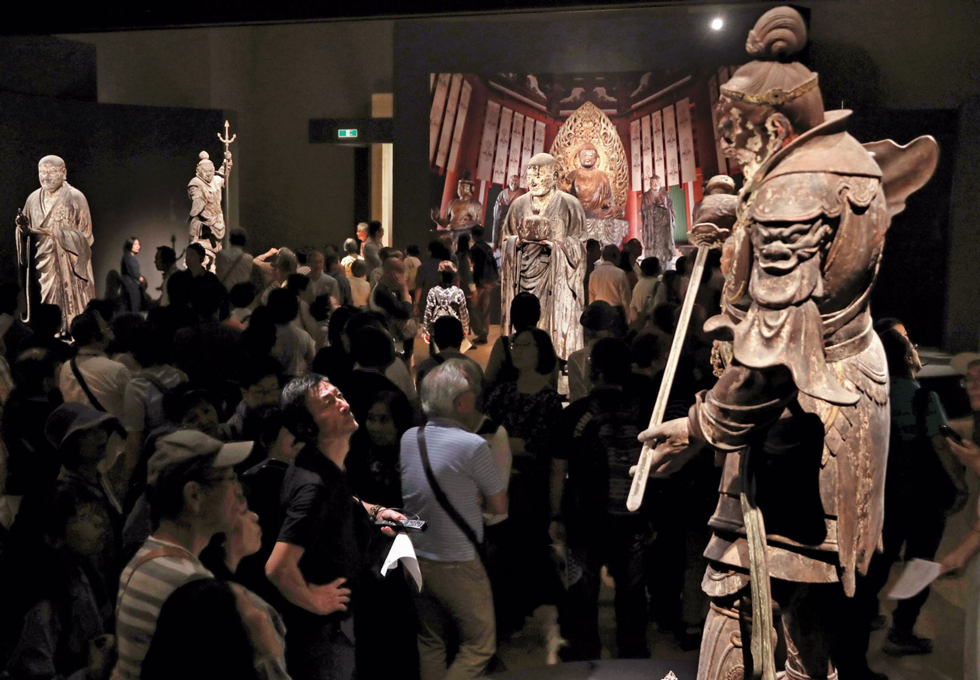Works by Unkei, the master of Buddhist sculpture, on show at the Tokyo National Museum. Asahi Shimbun via Getty Images
