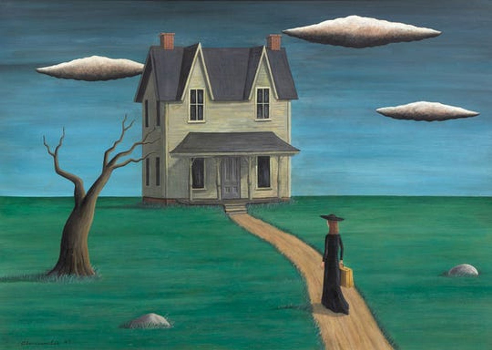 Coming Home, purportedly by Gertrude Abercrombie, sold at auction for $93,750 last year. The FBI is investigating it as the product of a suspected forgery ring