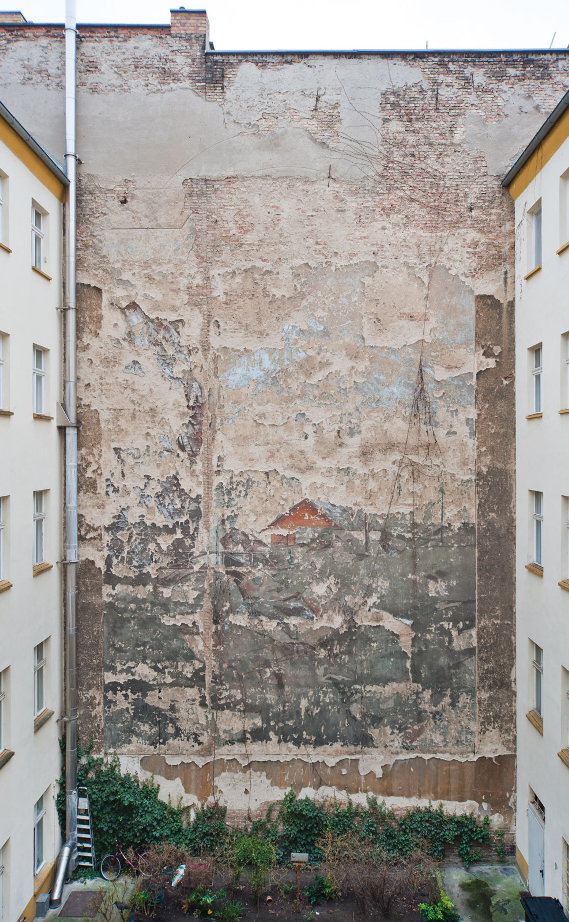 One of the remaining courtyard murals in central Berlin that will be restored Wolfgang Bittner