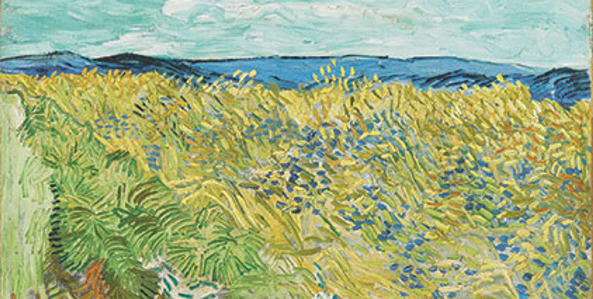 Wheatfield with Cornflowers (1890), detail, in the collection of the Fondation Beleyer Photo: Robert Bayer