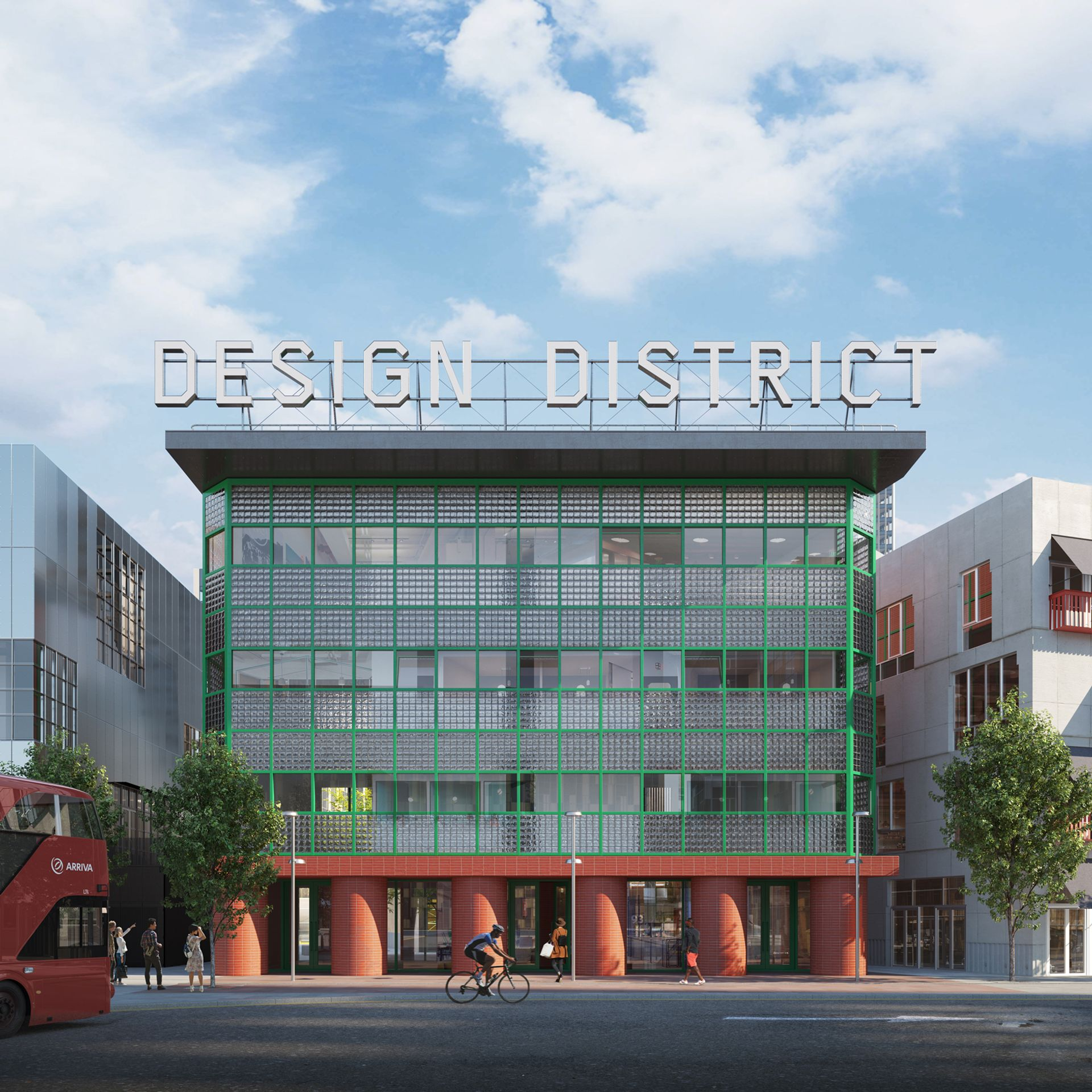 Rendering of the new queer arts venue, located in Greenwich's Design District