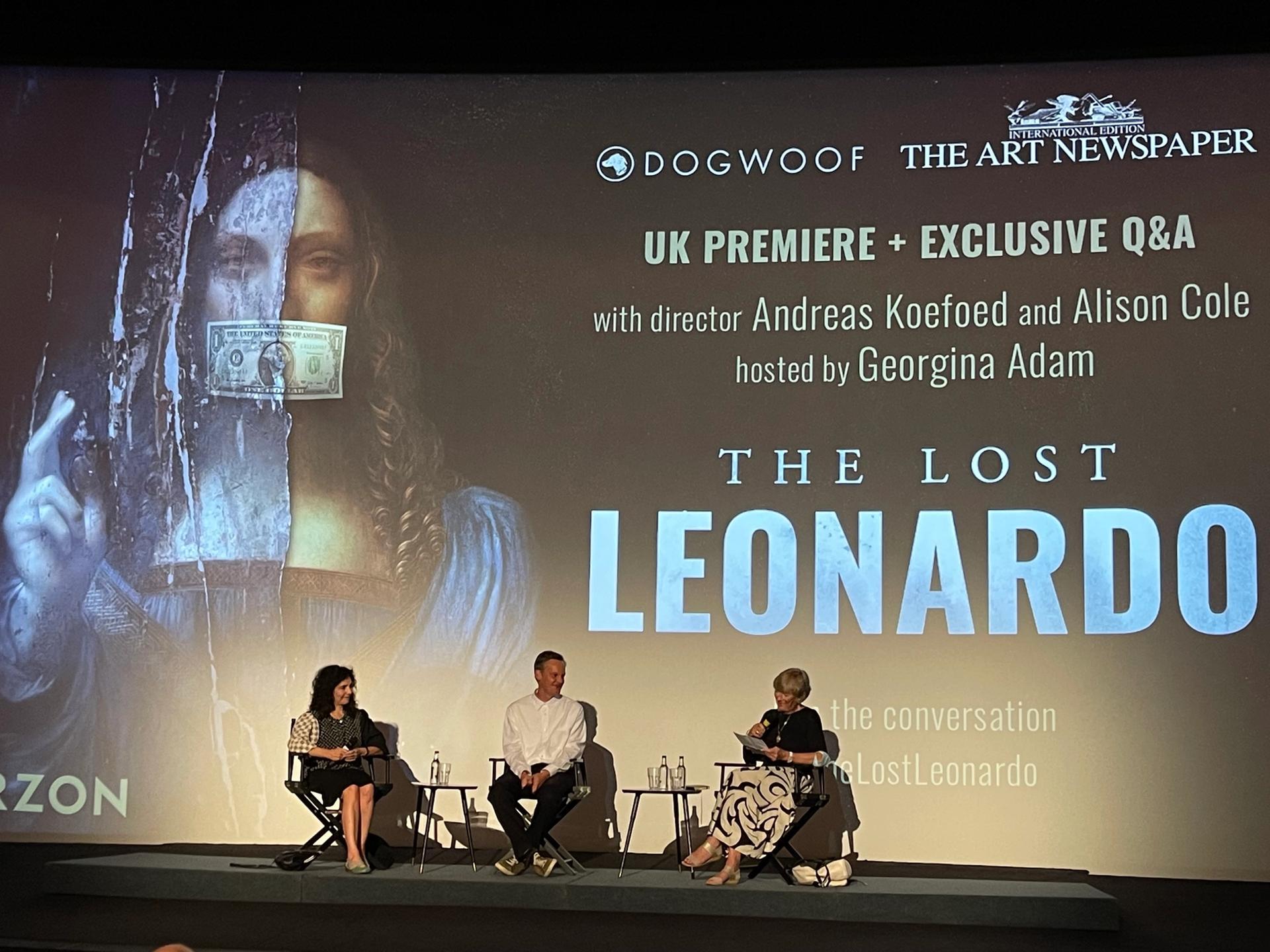 The screening of The Lost Leonardo in London Gareth Harris