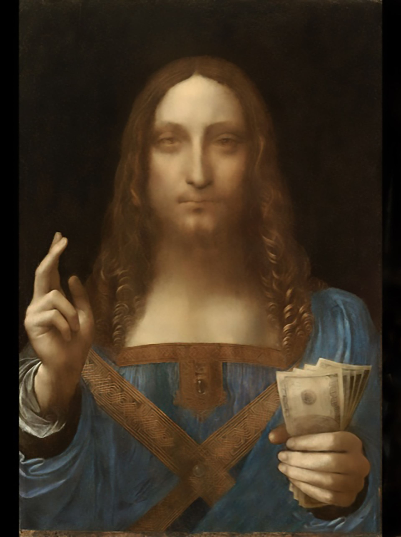 Art historian Ben Lewis has created an NFT of Salvator Mundi by Leonardo da Vinci called Salvator Metaversi Courtesy of Ben Lewis