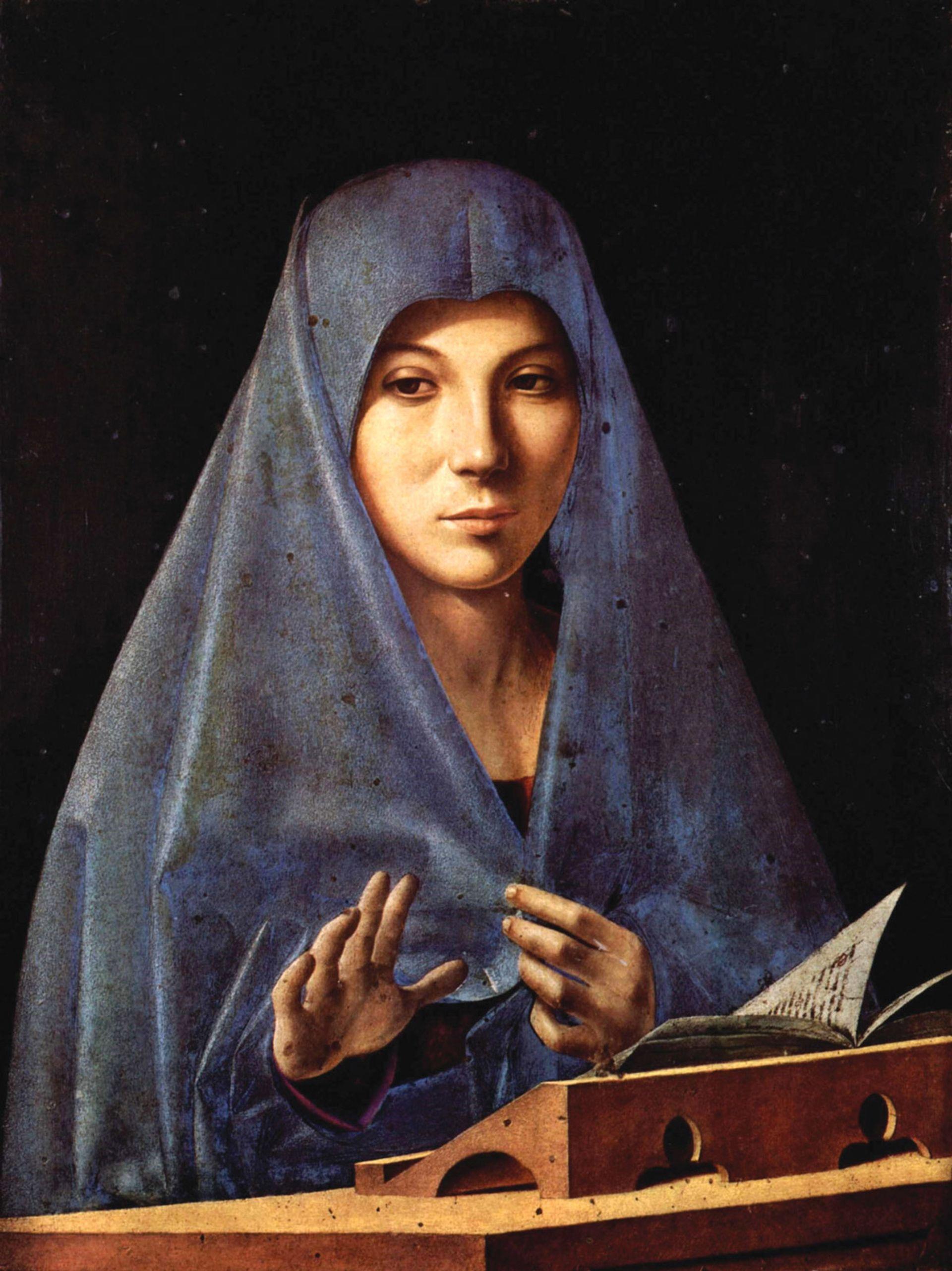 Antonello da Messina, L'Annunciata (the Virgin Annunciate), (1475-76) © Galleria Regionale di Palazzo Abatellis, Palermo