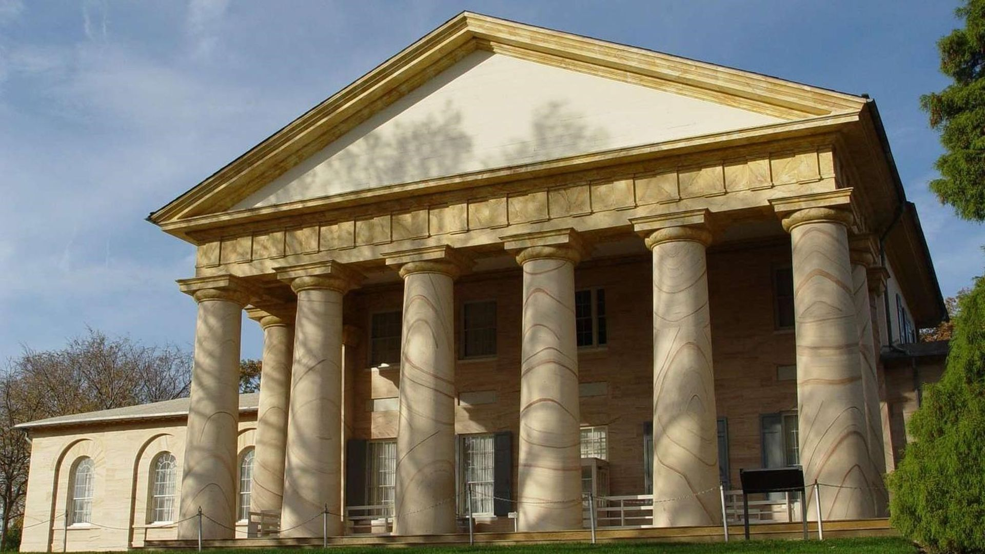 Arlington House  in Falls Church, Virginia, which reopened on Tuesday National Park Service