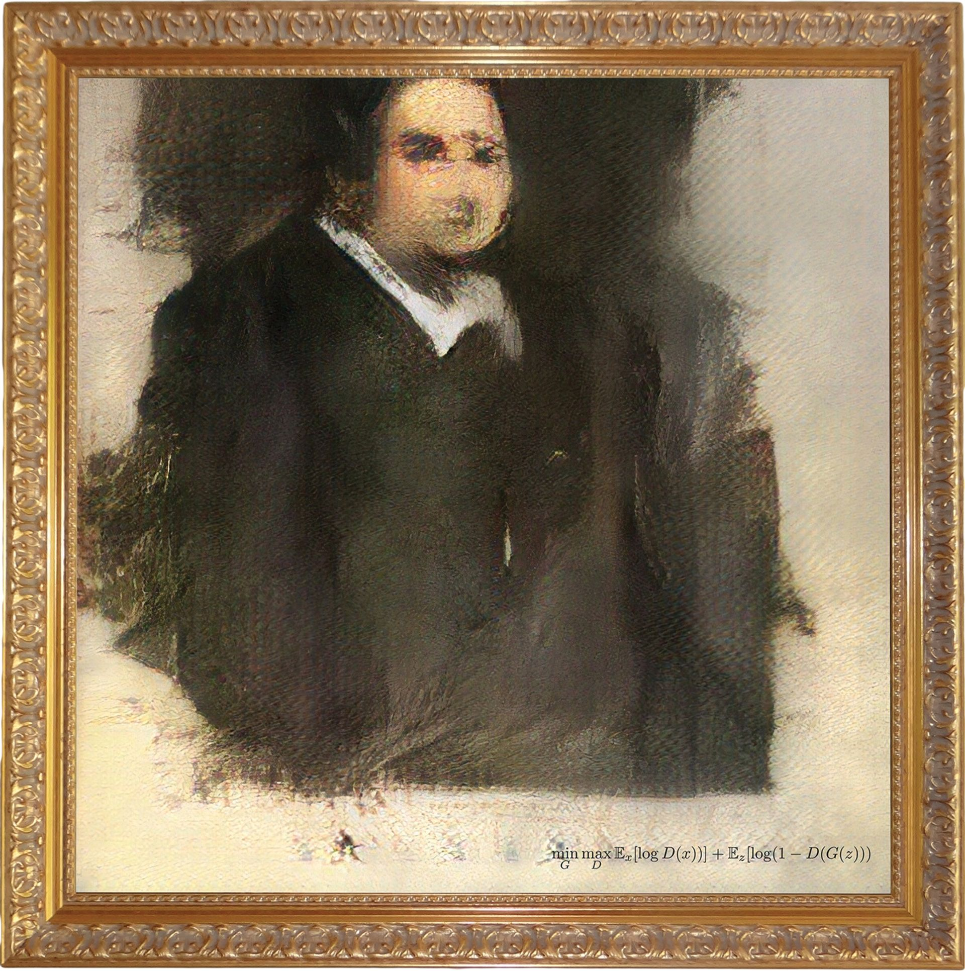 Portrait of Edmond Belamy was created using an as-yet-unrevealed source code and hits the auction block this month Courtesy of Christie's