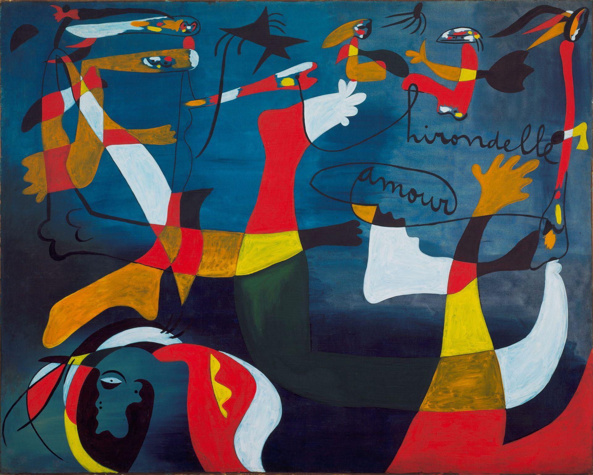 Joan Miró, Hirondelle Amour (1933-34) © 2018 Successió  Miró / Artists Rights Society (ARS), New York / ADAGP, Paris