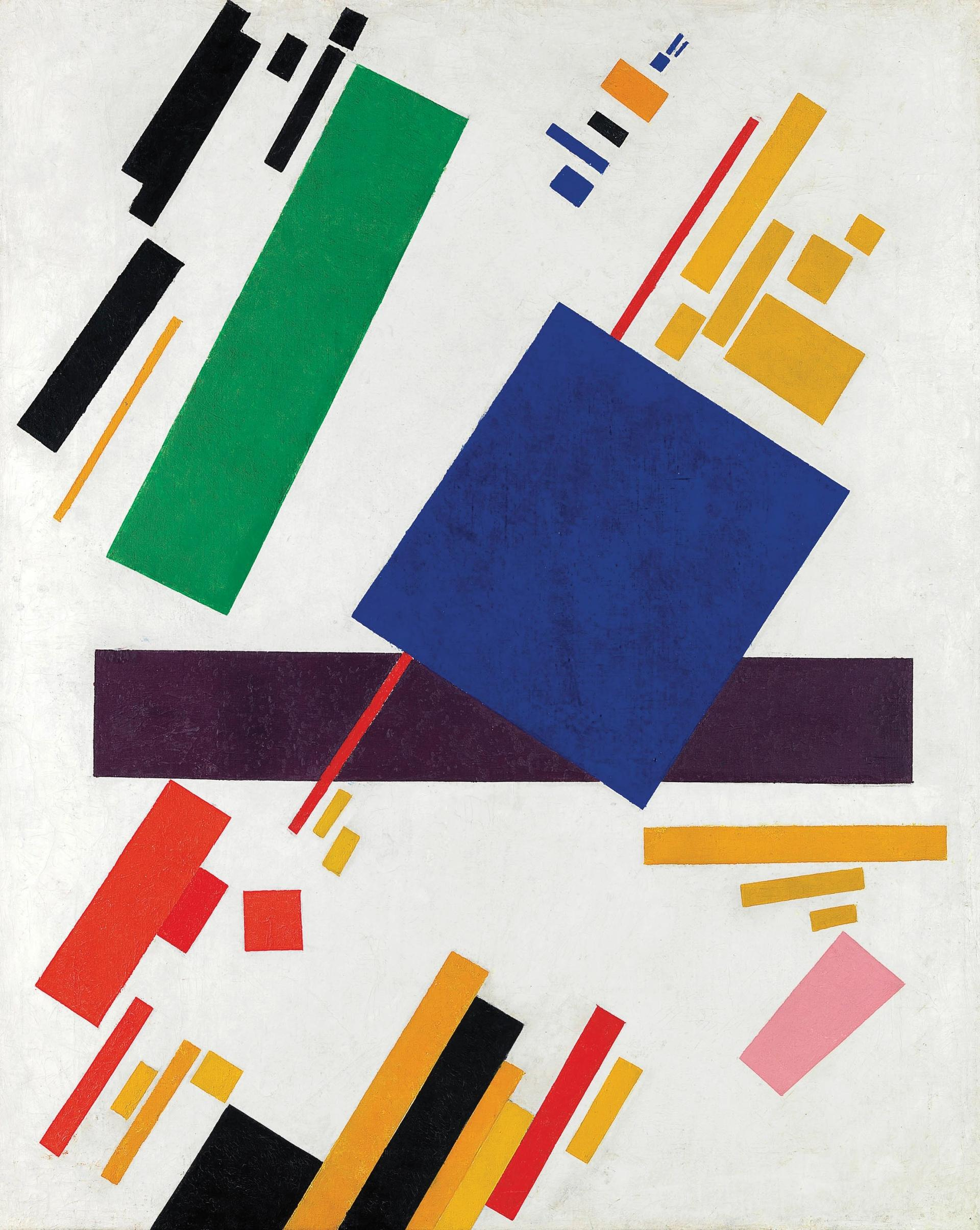 Kazimir Malevich's Suprematist Composition (1916), which made an artist record $85.8m at Christie's in May 2018 Christie's Images