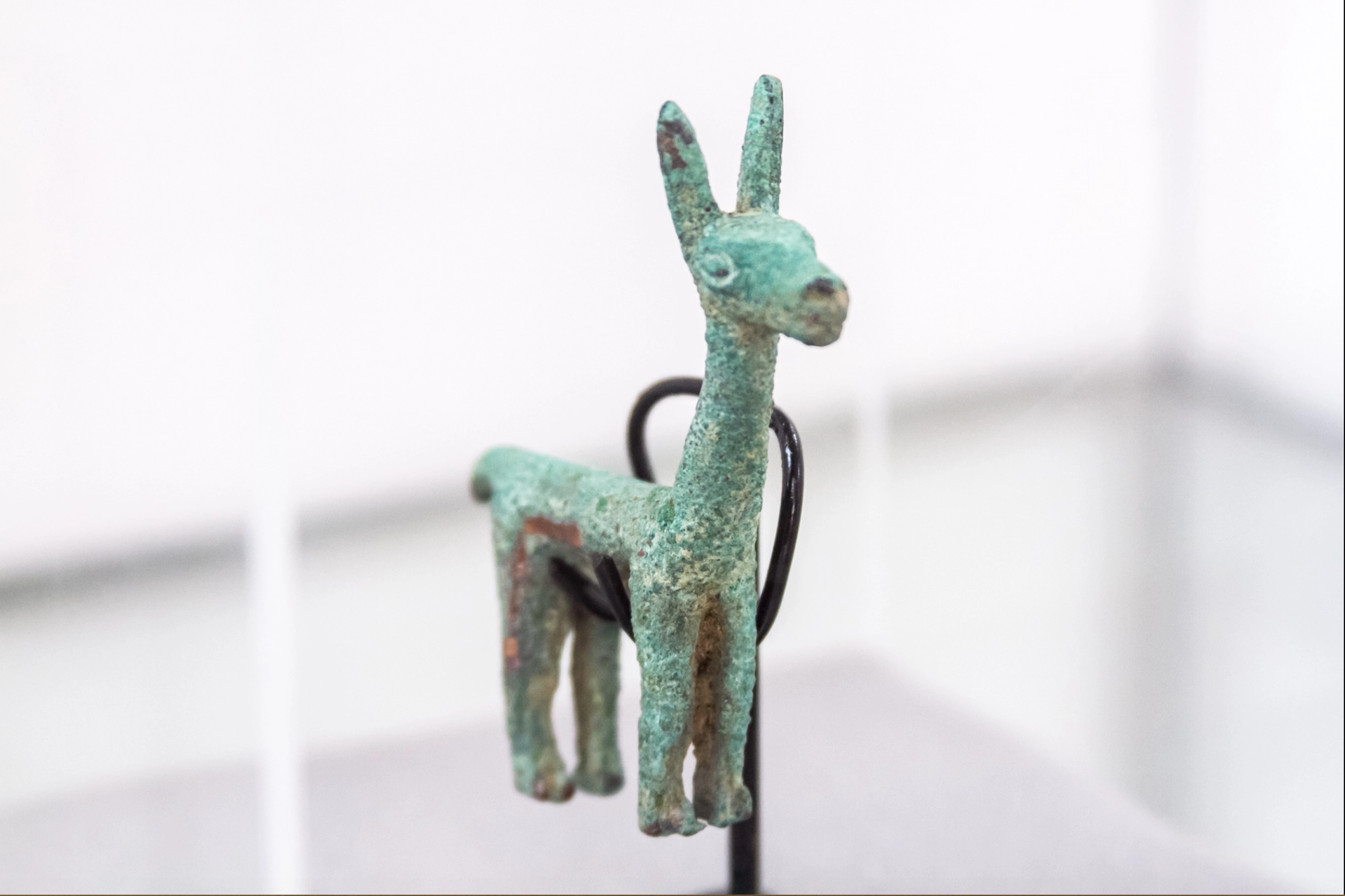 A zoomorphic figure a collection of 536 artefacts illegally taken out of Ecuador by a German national. The objects were returned in October 2019. To educate the public, the collection and the story of its restitution were exhibited by Unesco . © INCP-MCYP, 2020, Ecuador
