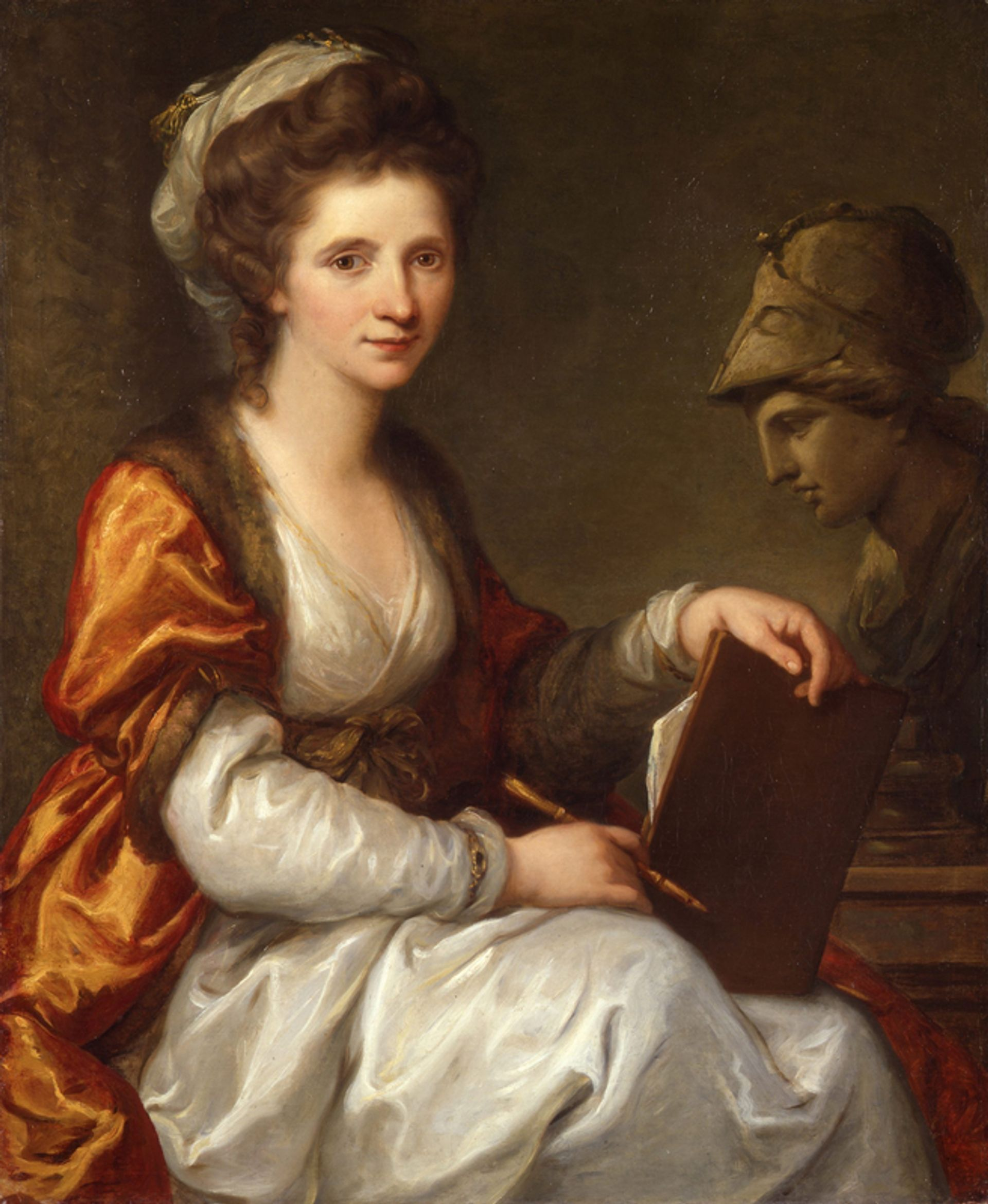 Angelica Kauffman, Self-portrait with the bust of Minerva (around 1784), was due to go on show at the Royal Academy of Arts © Photo: Bündner Kunstmuseum, Chur