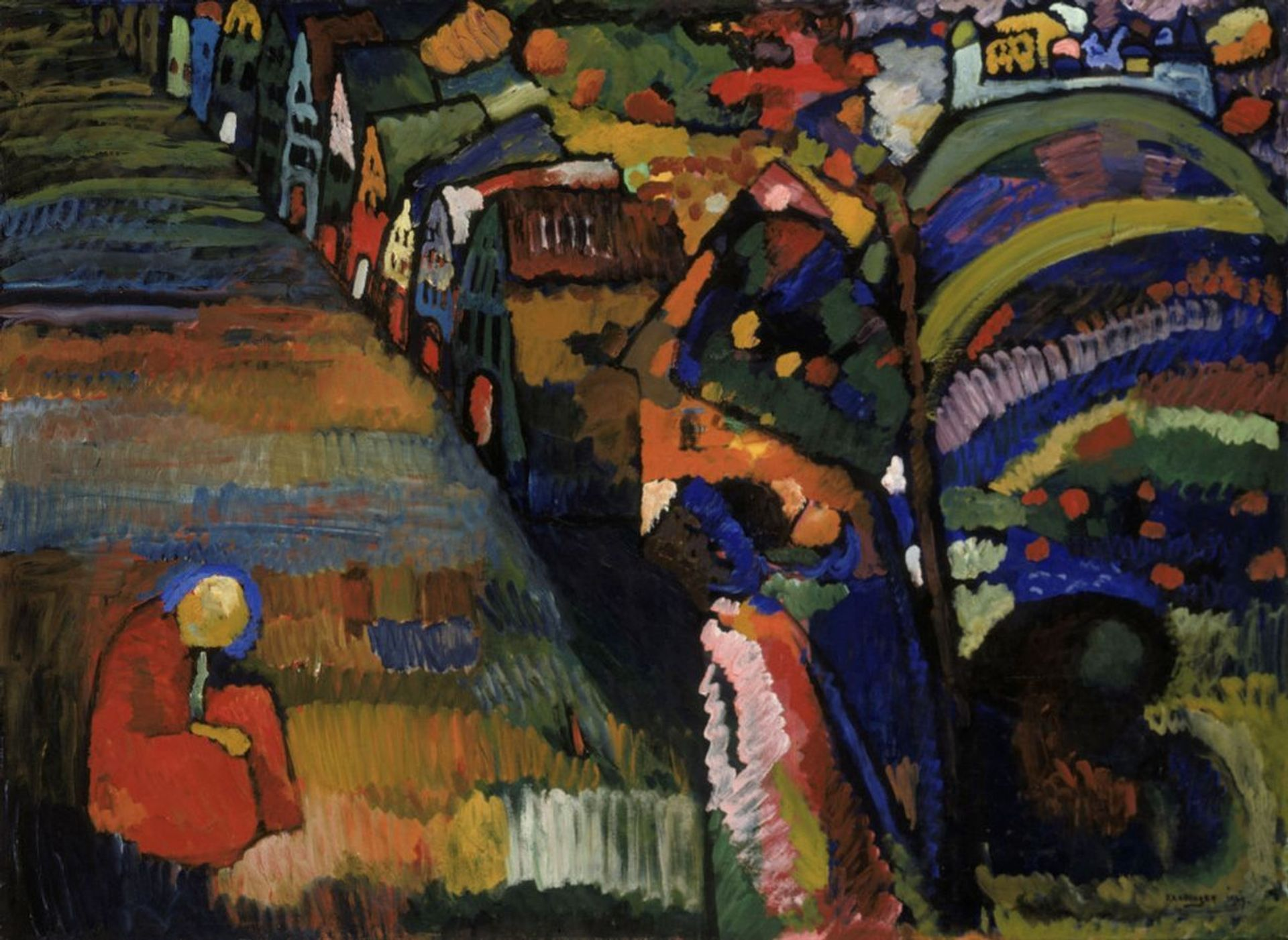 Kandinsky's Painting With Houses (1909) Stedelijk Museum