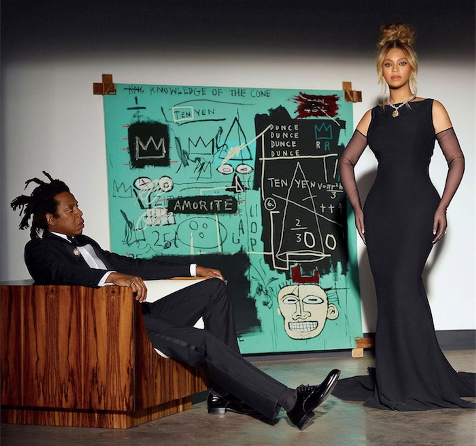 The Carters and Basquiat's Equals Pi via Tiffany.com (photo: Mason Poole)