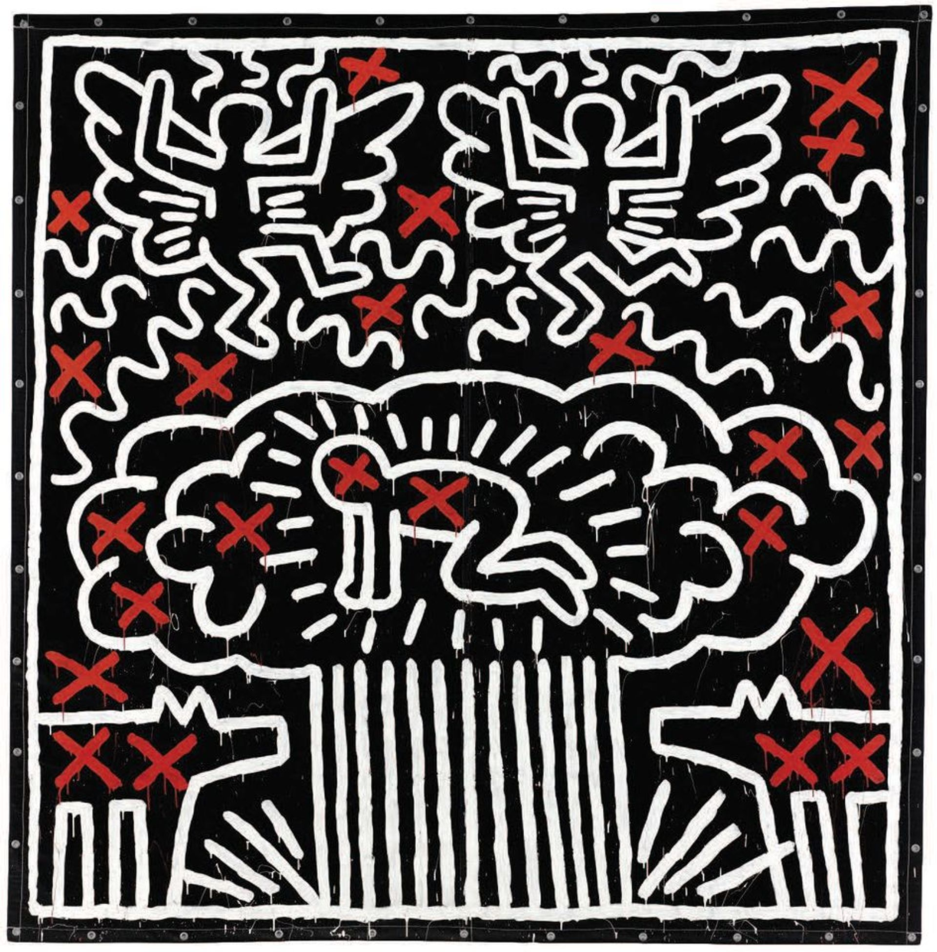 Keith Haring's Untitled (1982) was sold for $6.5m at Sotheby's in May 2017 but was never paid for © The Keith Haring Foundation via Sotheby's