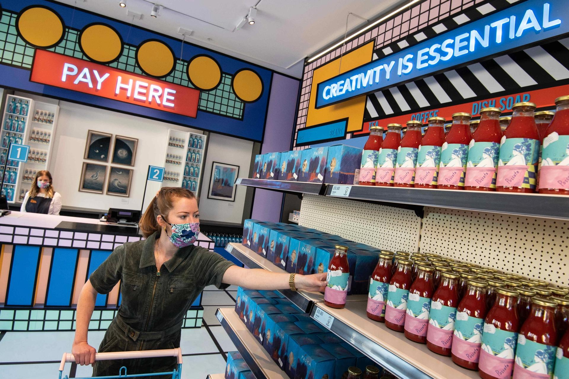 The Design Museum has opened a pop-up supermarket Courtesy of Design Museum, London