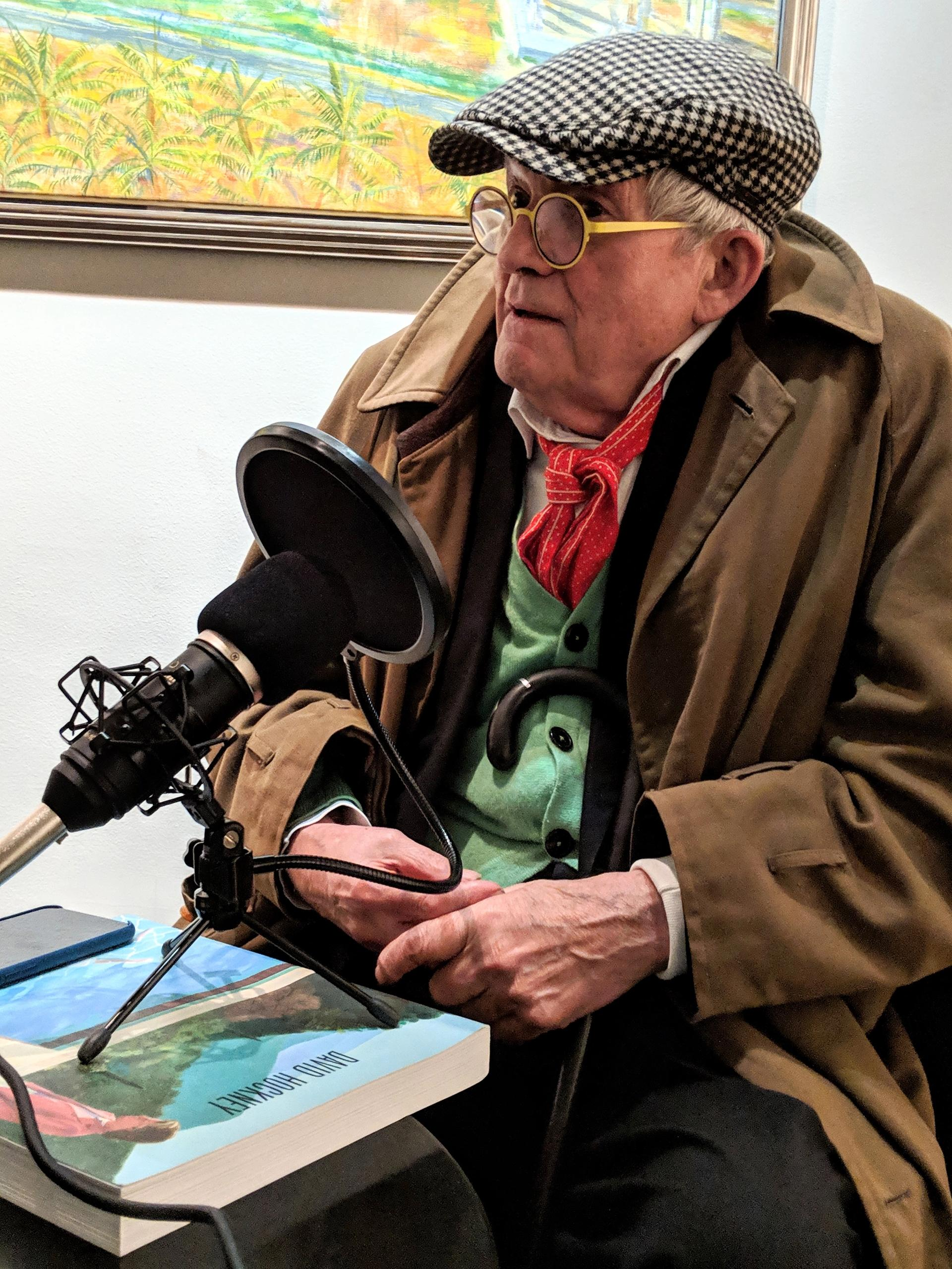 David Hockney speaking on The Art Newspaper podcast David Clack