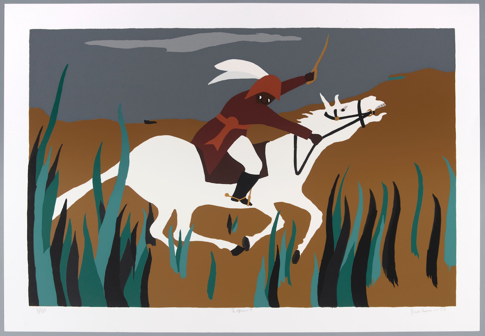 Jacob Lawrence, Toussaint at Ennery (1989) from the series The Life of Toussaint L'Ouverture (1986-97) Colby College Museum of Art