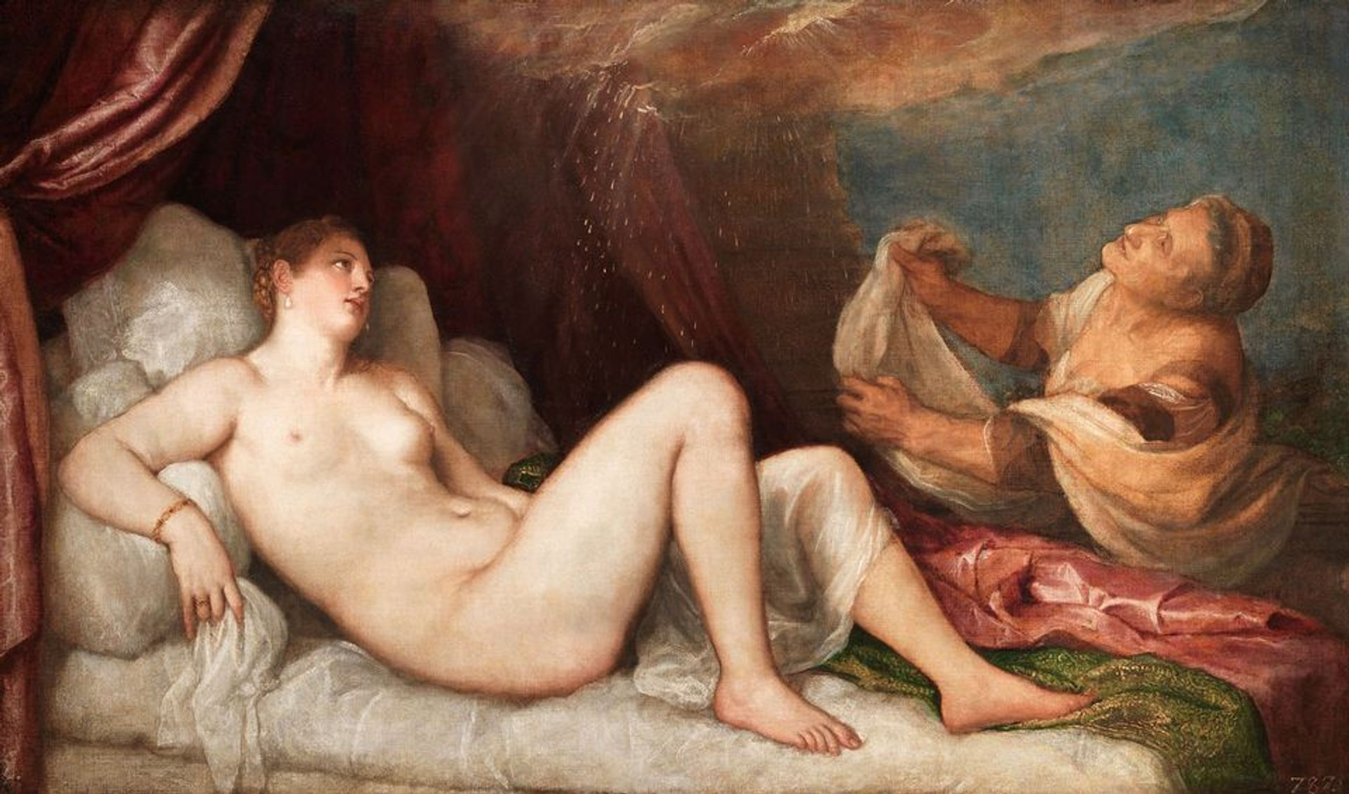 Titian, Danaë (around 1551–53) is in the National Gallery exhibition © Stratfield Saye Preservation Trust