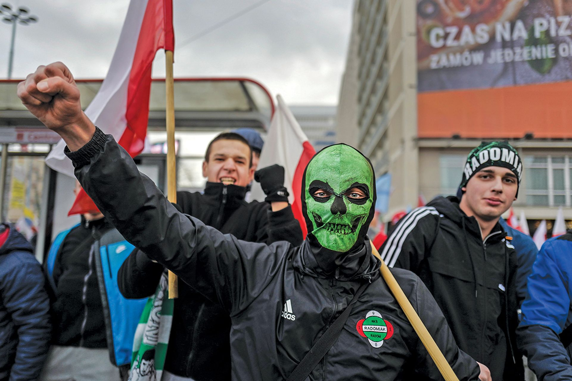 Growing xenophobia in Poland is typified by a 60,000-strong march by right-wing nationalists in Warsaw last November Chris Niedenthal/FORUM