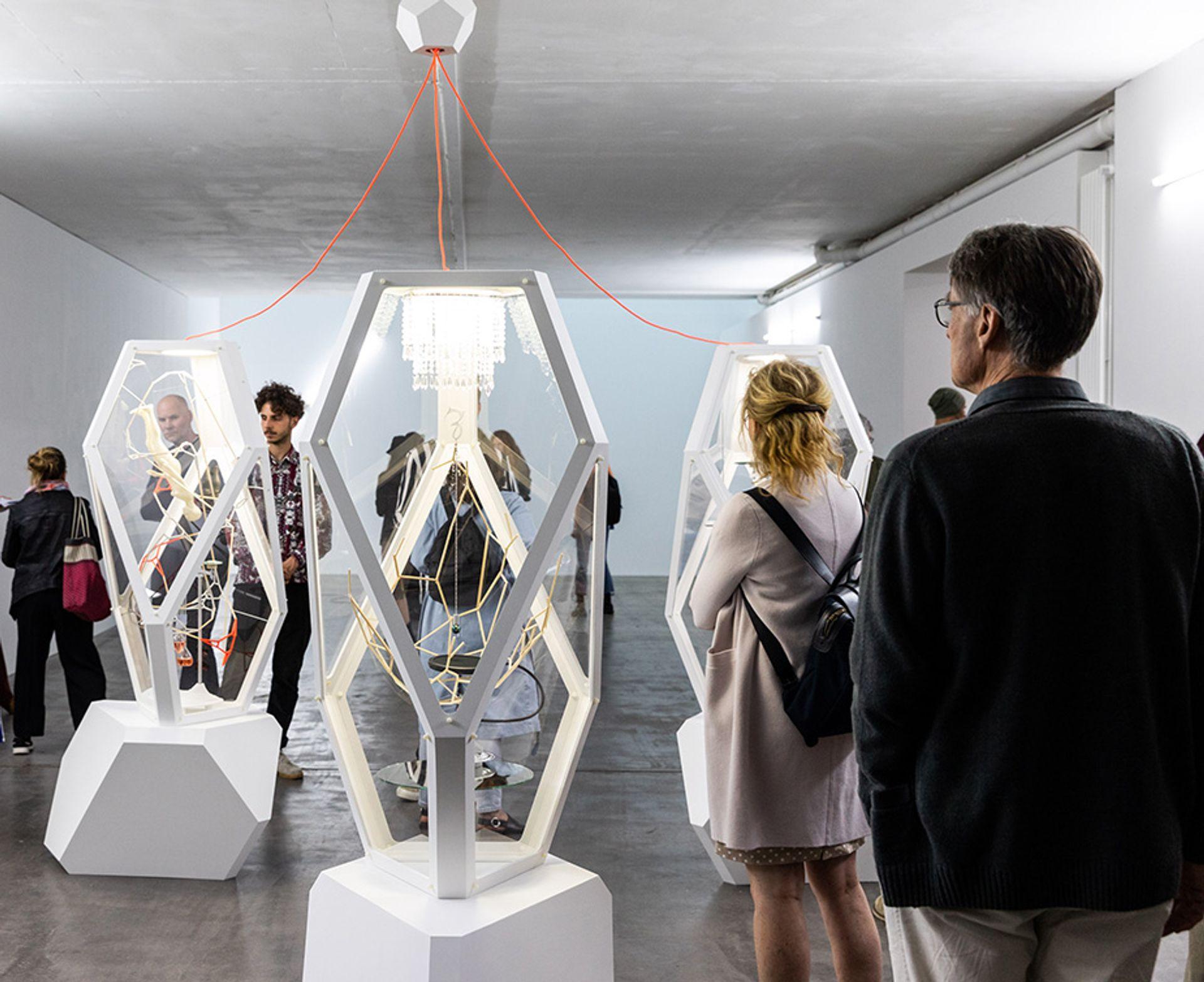 Visitors to last year's Gallery Weekend Berlin 2019, at the Guido W. Baudach gallery © Gallery Weekend Berlin