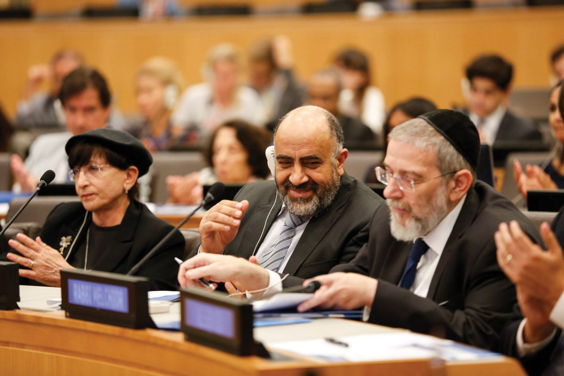 Sheikh Raed Bader and Rabbi Michael Melchior: key figures in the religious peace network ALF/UNAOC