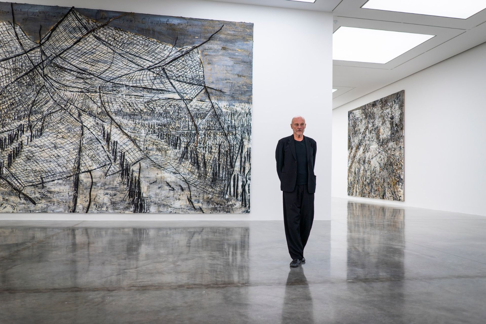 Anselm Kiefer at his exhibition Superstrings, Runes, The Norns, Gordian Knot at White Cube Bermondsey Photo: David Clack