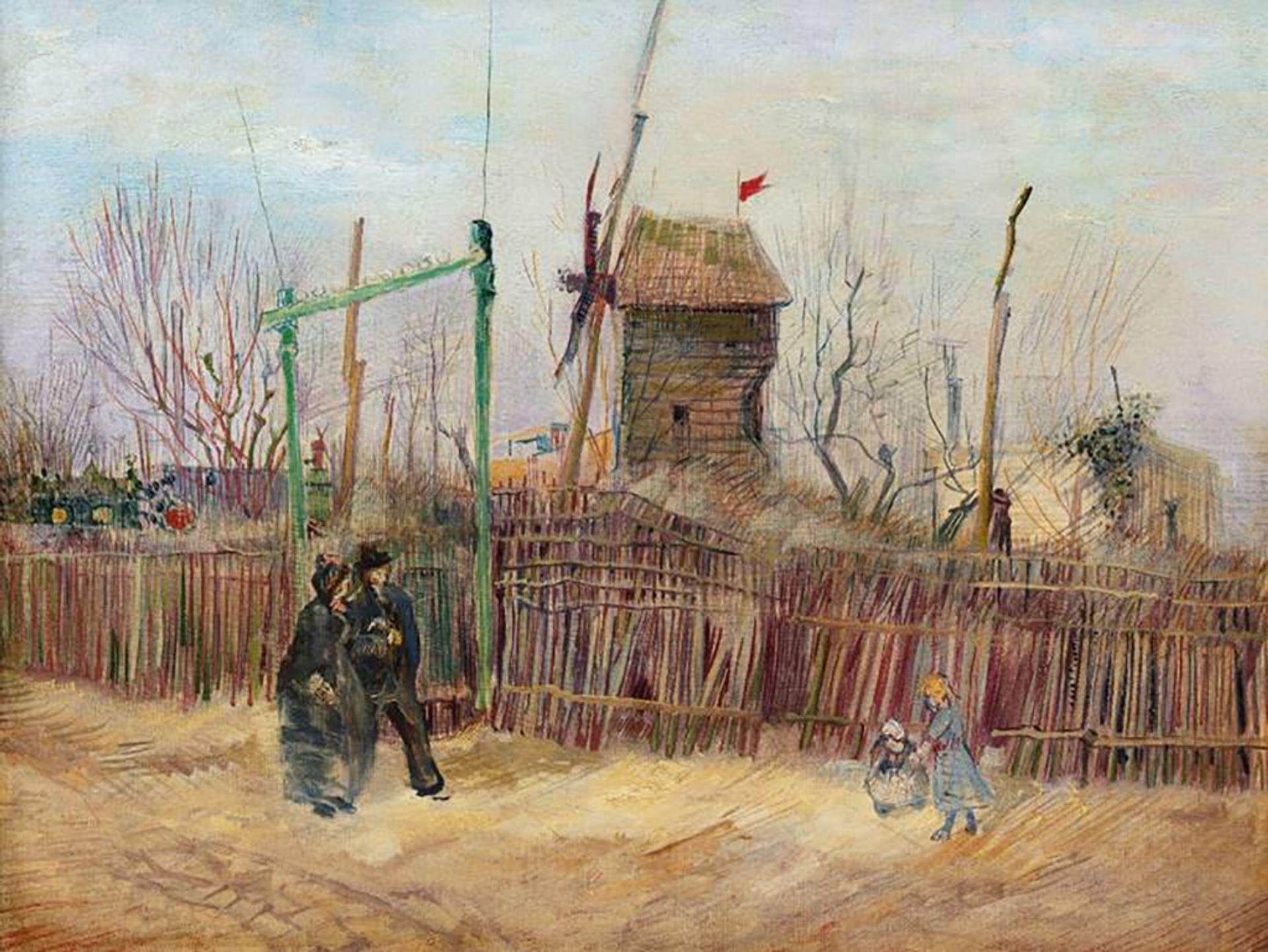 Van Gogh's Scène de rue à Montmartre (Impasse des deux frères et le Moulin à Poivre) from 1887 will go on the block next month Courtesy of Sotheby's and Mirabaud Mercier