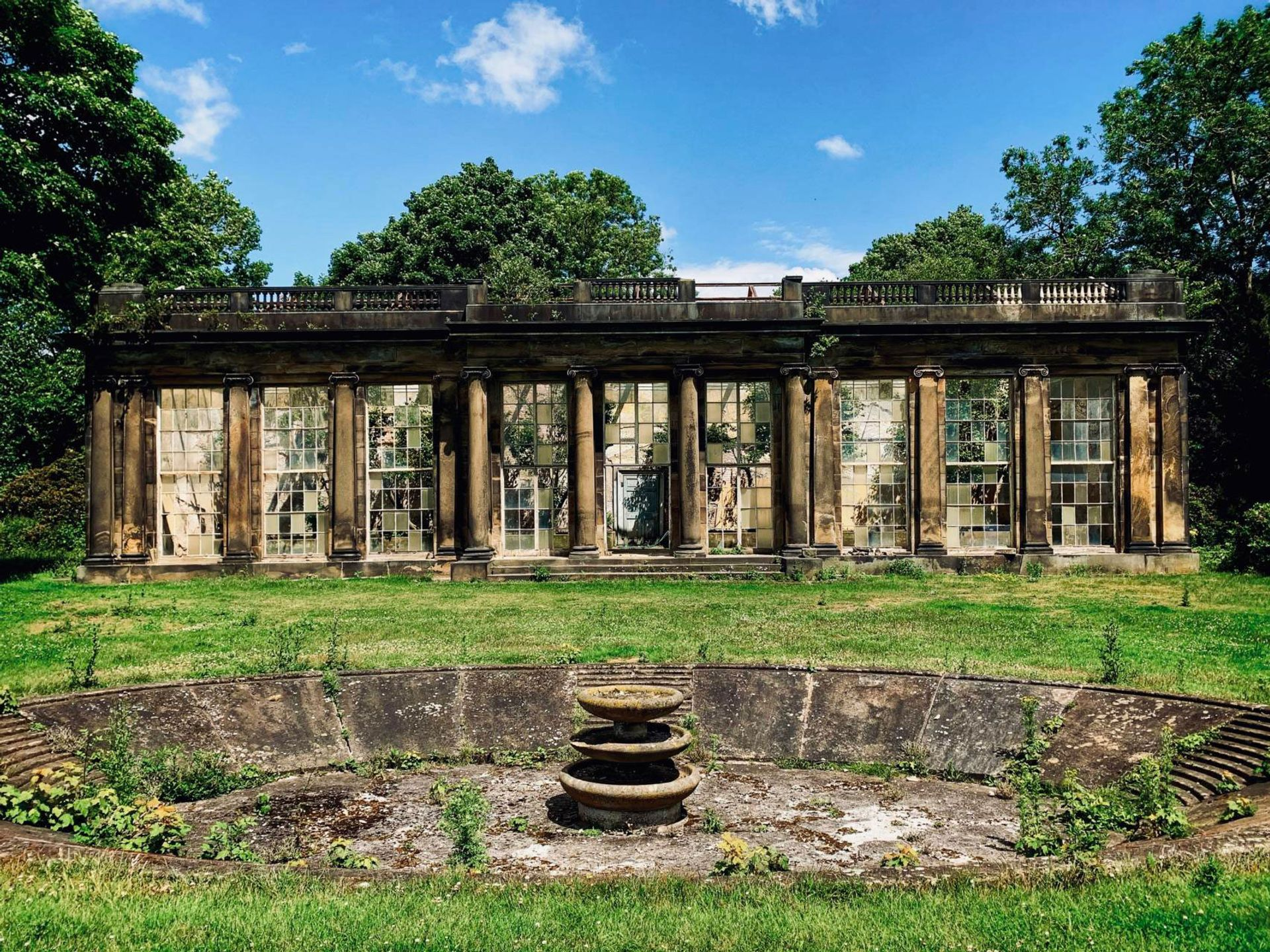 The derelict Camellia House will be restored into a tea room and evening event space, as it was when Lady Rockingham entertained guests there in 1738 Photo: Wentworth Woodhouse Preservation Trust
