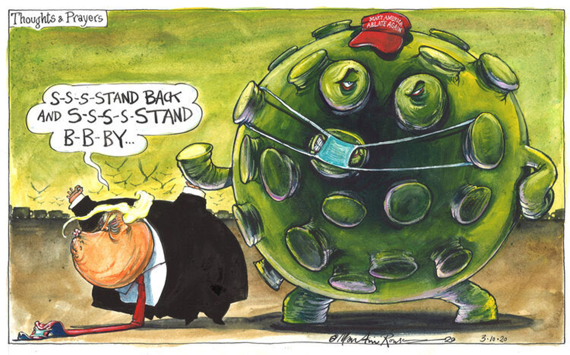 Thoughts and Prayers by Martin Rowson © Martin Rowson