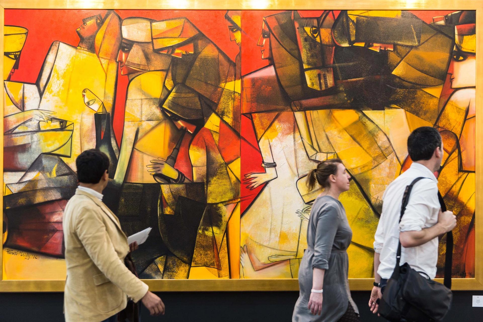 Visitors at India Art Fair Andy Barnham