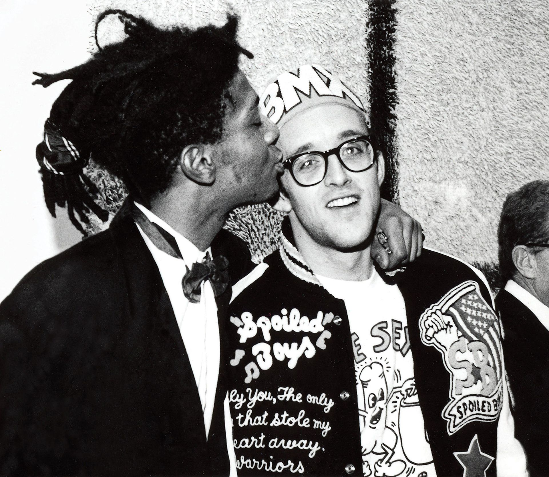 Keith Haring and Jean-Michel Basquiat in 1987 © George Hirose
