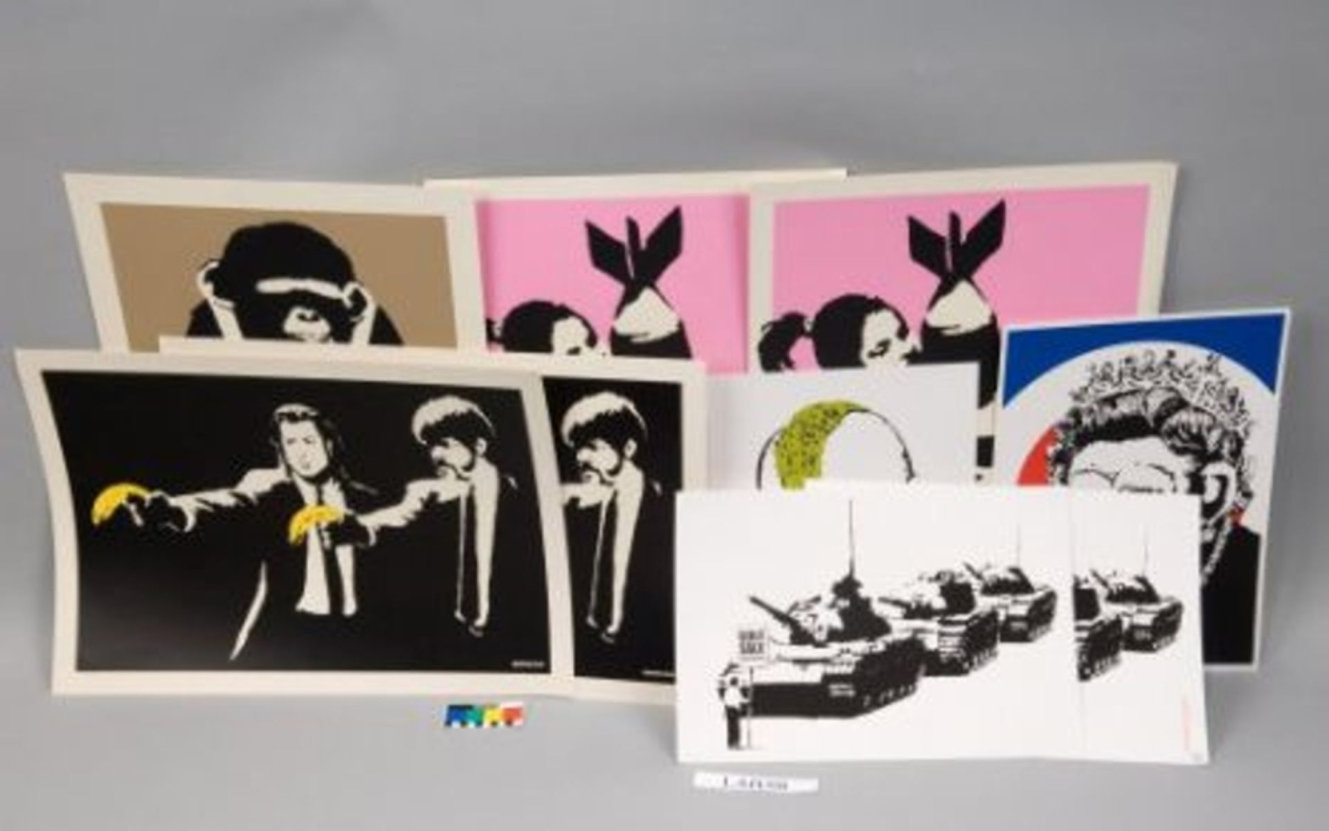 The fake Banksy prints were offered on eBay Photo: Metropolitan Police/PA Wire