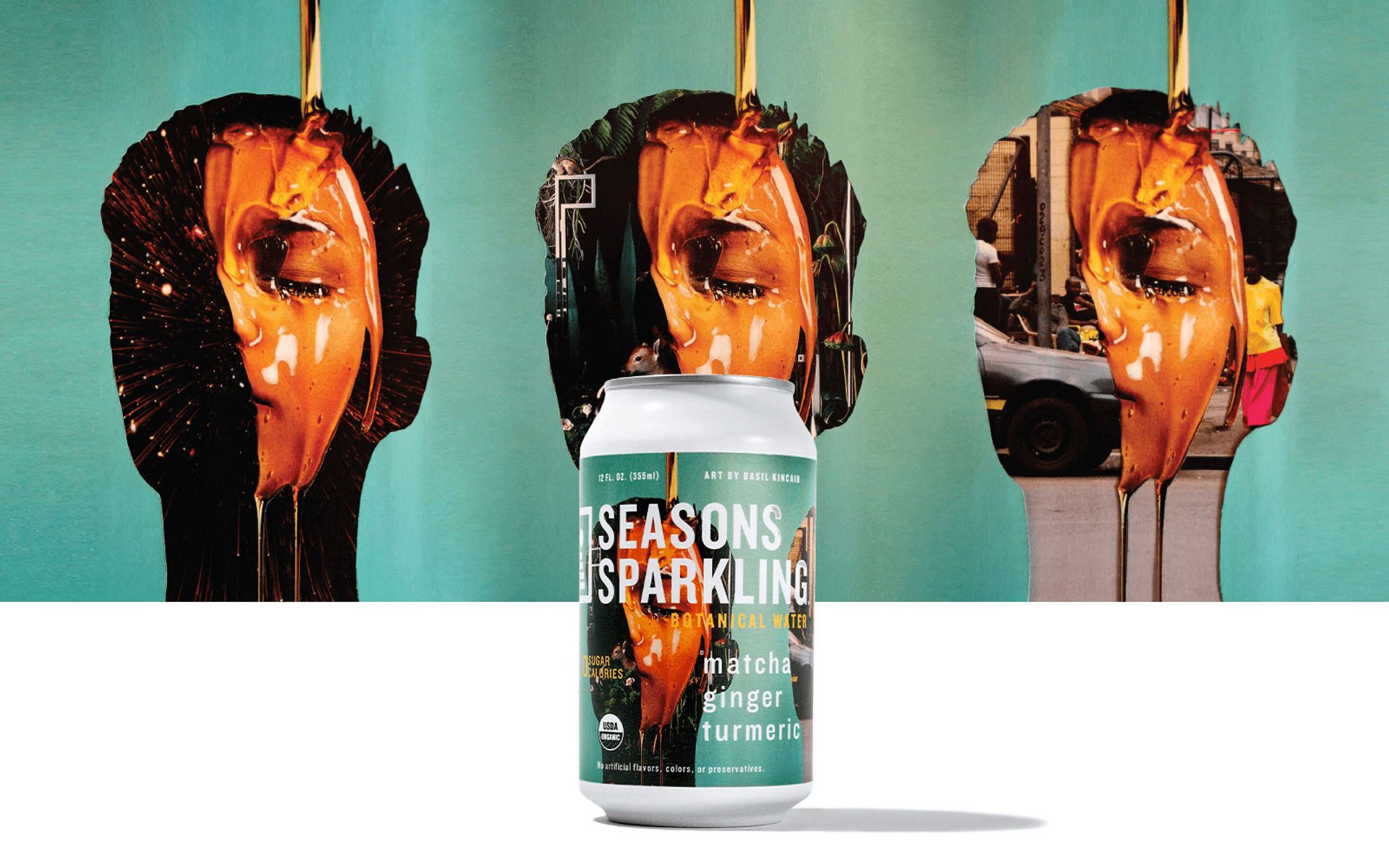 Sparkling stuff: Seasons Sparkling with art work by Basil Kincaid © Seasons Sparkling