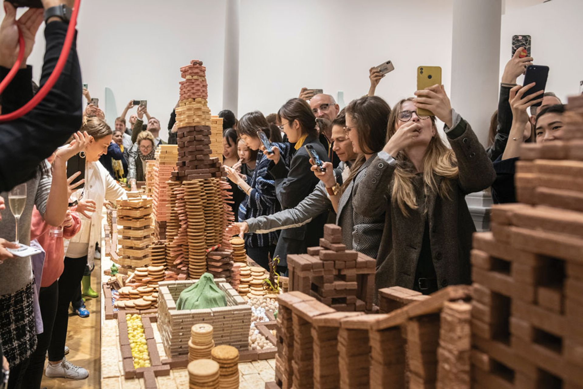 Crumbs! Song Dong's calorific constructions met with visitors' approval Courtesy of the artist and Pace