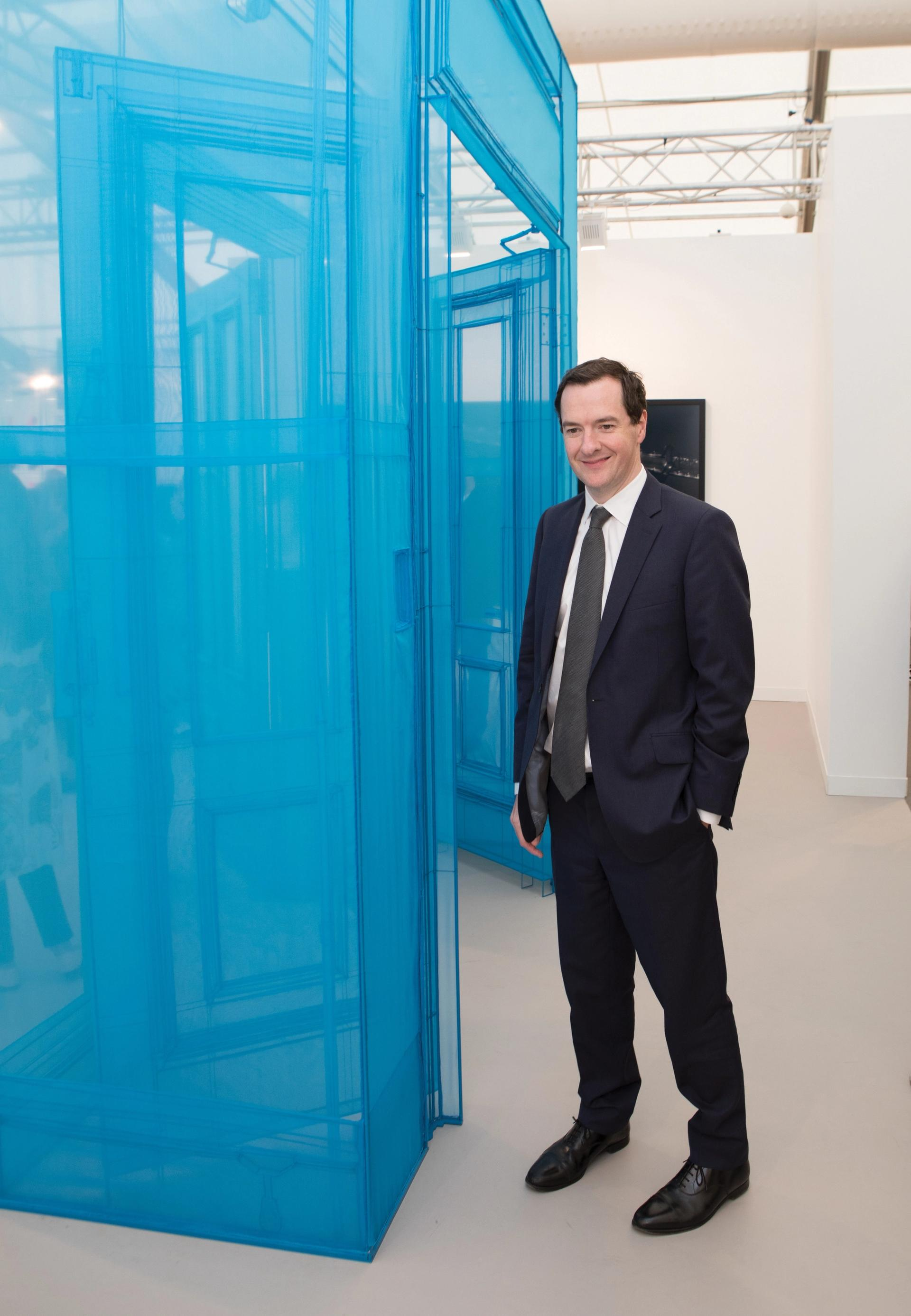 George Osborne, formerly Chancellor of the Exchequer, at Frieze London in 2017 Photo: © David Owens