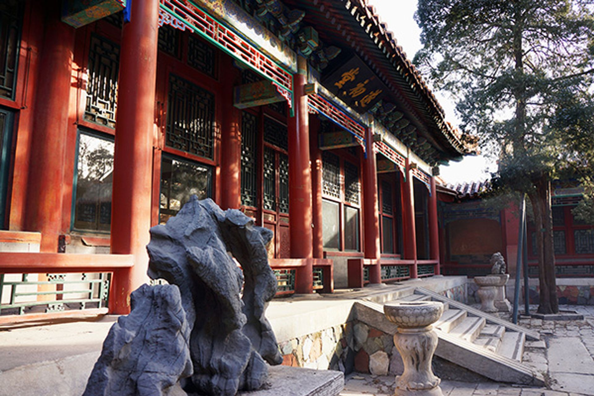 The exterior of the interpretation centre planned for Qianlong Garden in Beijing World Monuments Fund