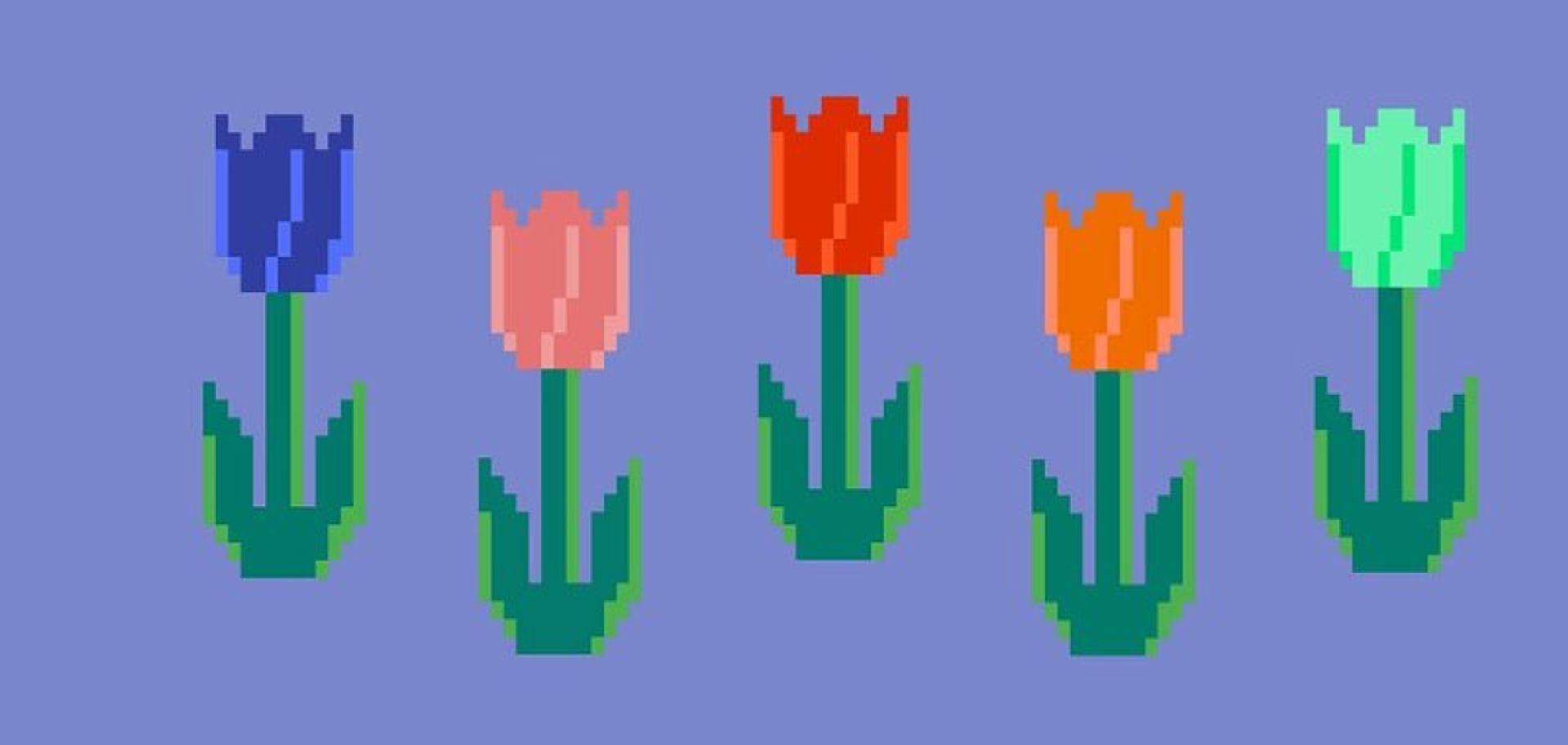 NFTS: a tulip mania price bubble? Image: via Crypto Tulips