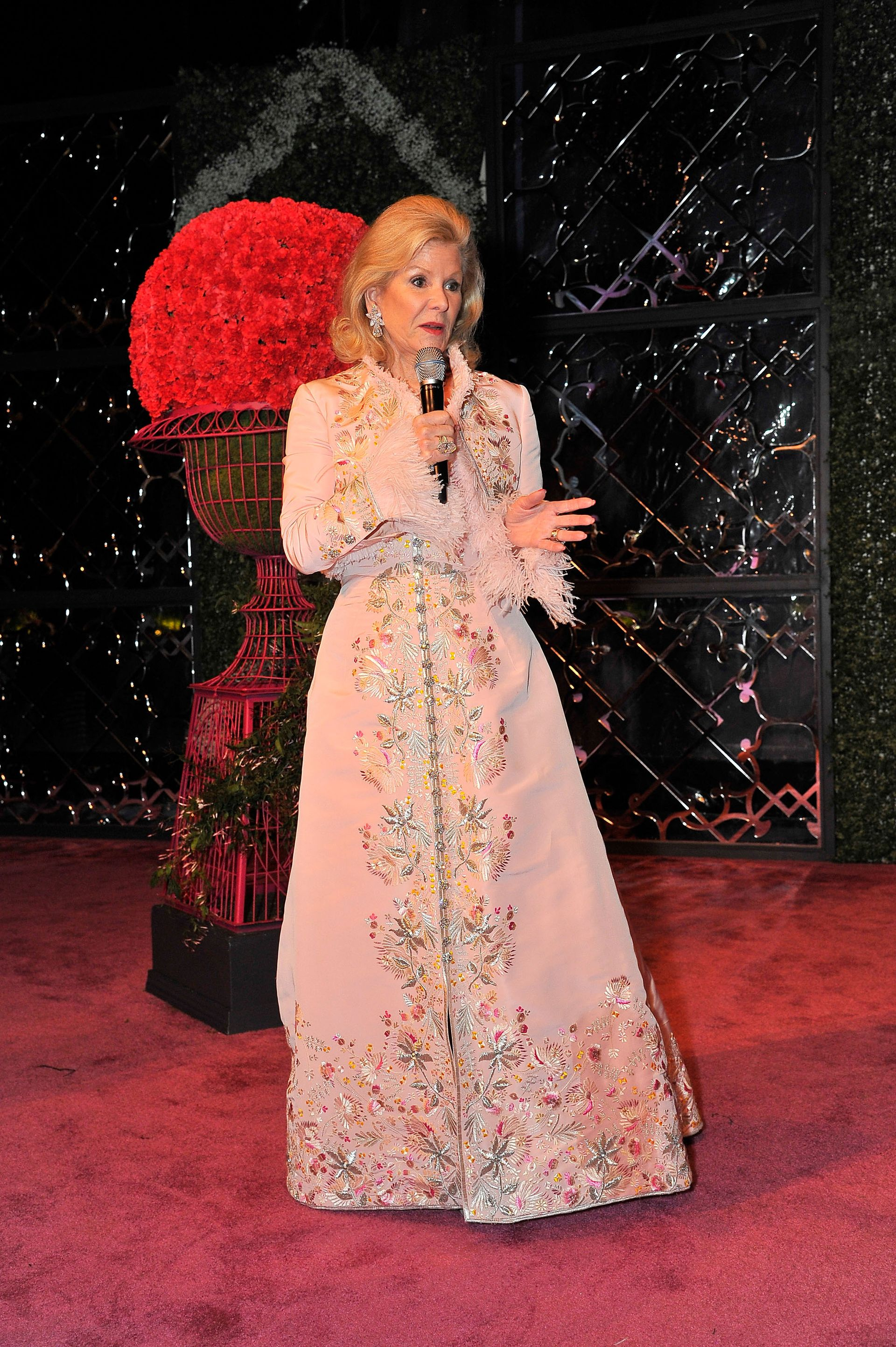 Diane B. Wilsey speaks during the Oscar de la Renta: The Retrospective Benefit Gala at the De Young Museum in San Francisco Photo: Steve Jennings/Getty Images for Fine Arts Museums of San Francisco