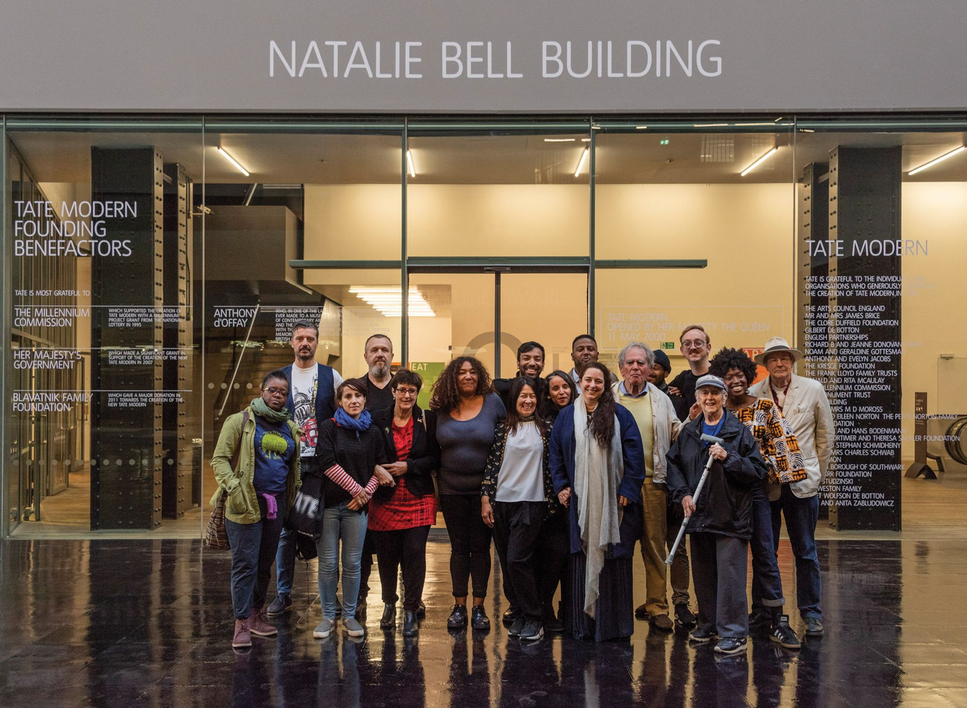 The Cuban artist Tania Bruguera renamed Tate Modern's main building after local activist Natalie Bell as part of her 2018 Turbine Hall commission © Tate
