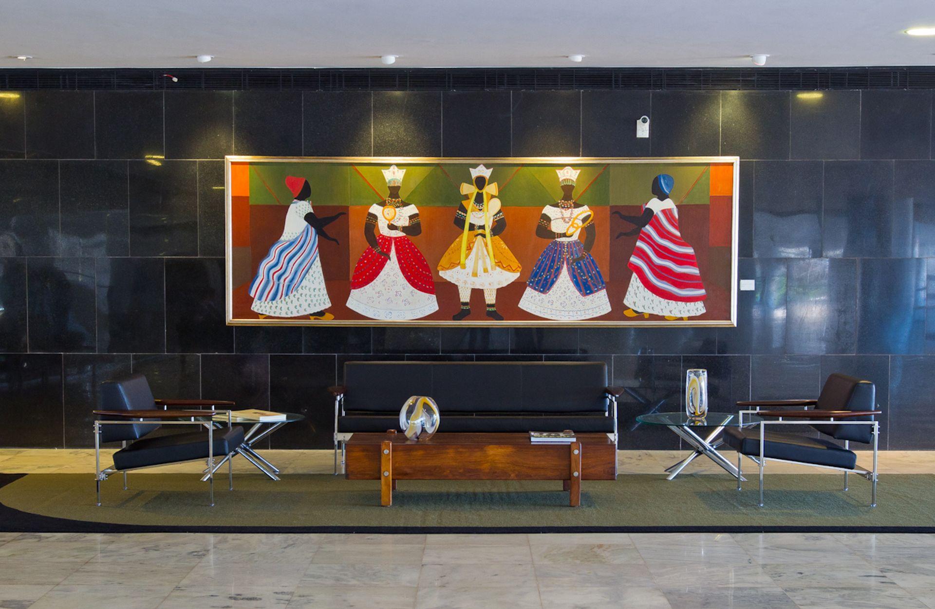 Os Orixás (1966) by the Brazilian artist Djanira da Motta e Silva at the Palácio Planalto before it was removed