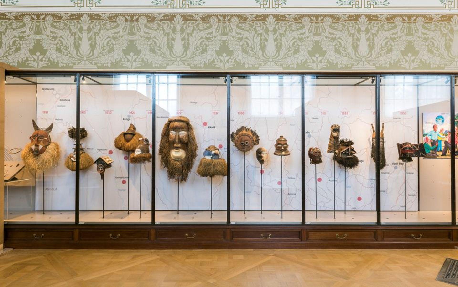 A view of the Rituals and Ceremonies gallery at the Royal Museum of Central Africa in Tervuren, Belgium © RMCA, Tervuren, photo Jo Van de Vijver