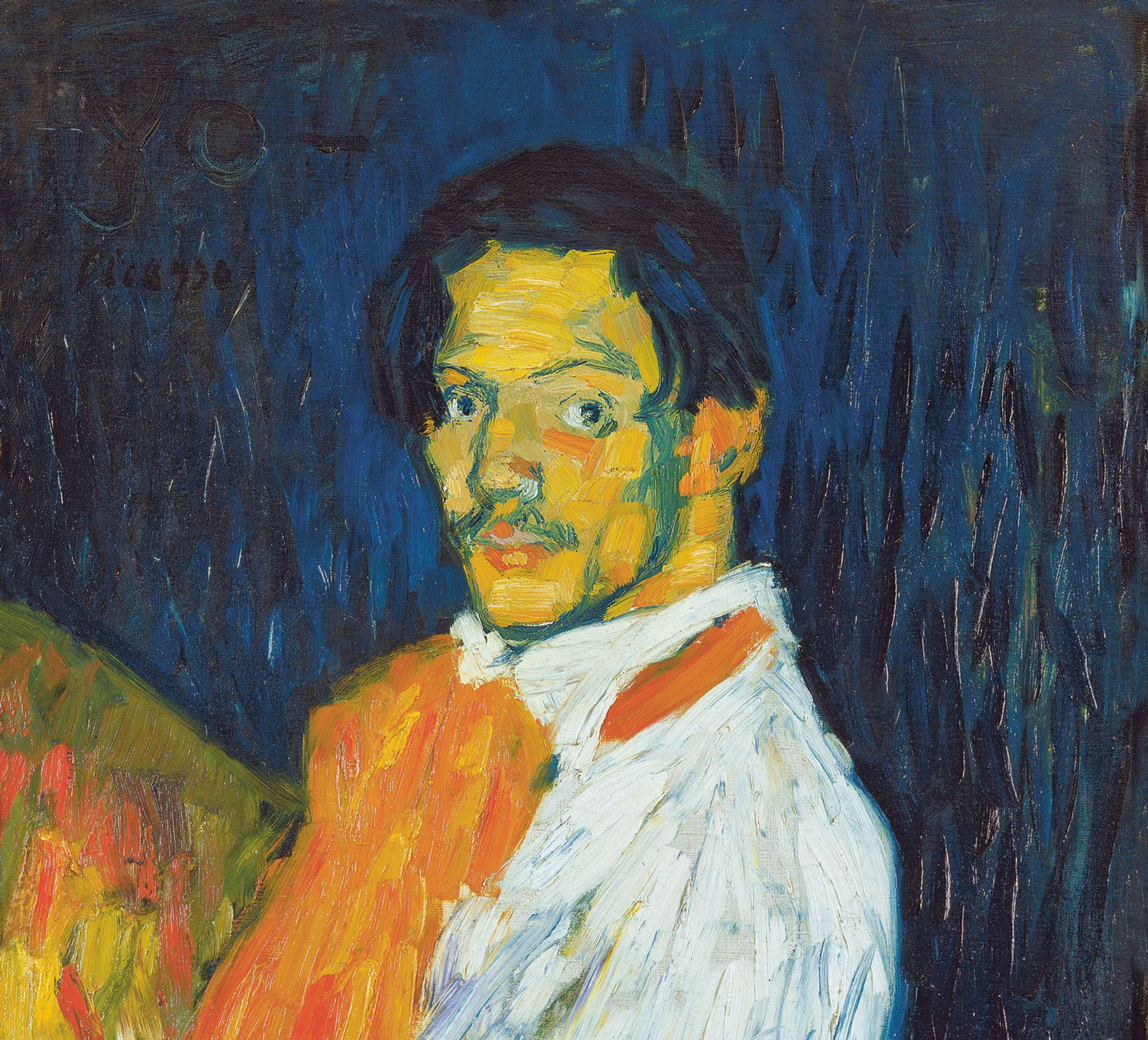 Yo Picasso (detail, 1901) from the Beyler show, which included works made by the artist between 1901 and 1907 © Succession Picasso/ProLitteris, Zürich; Image © Art Resource, New York/Scala, Florence