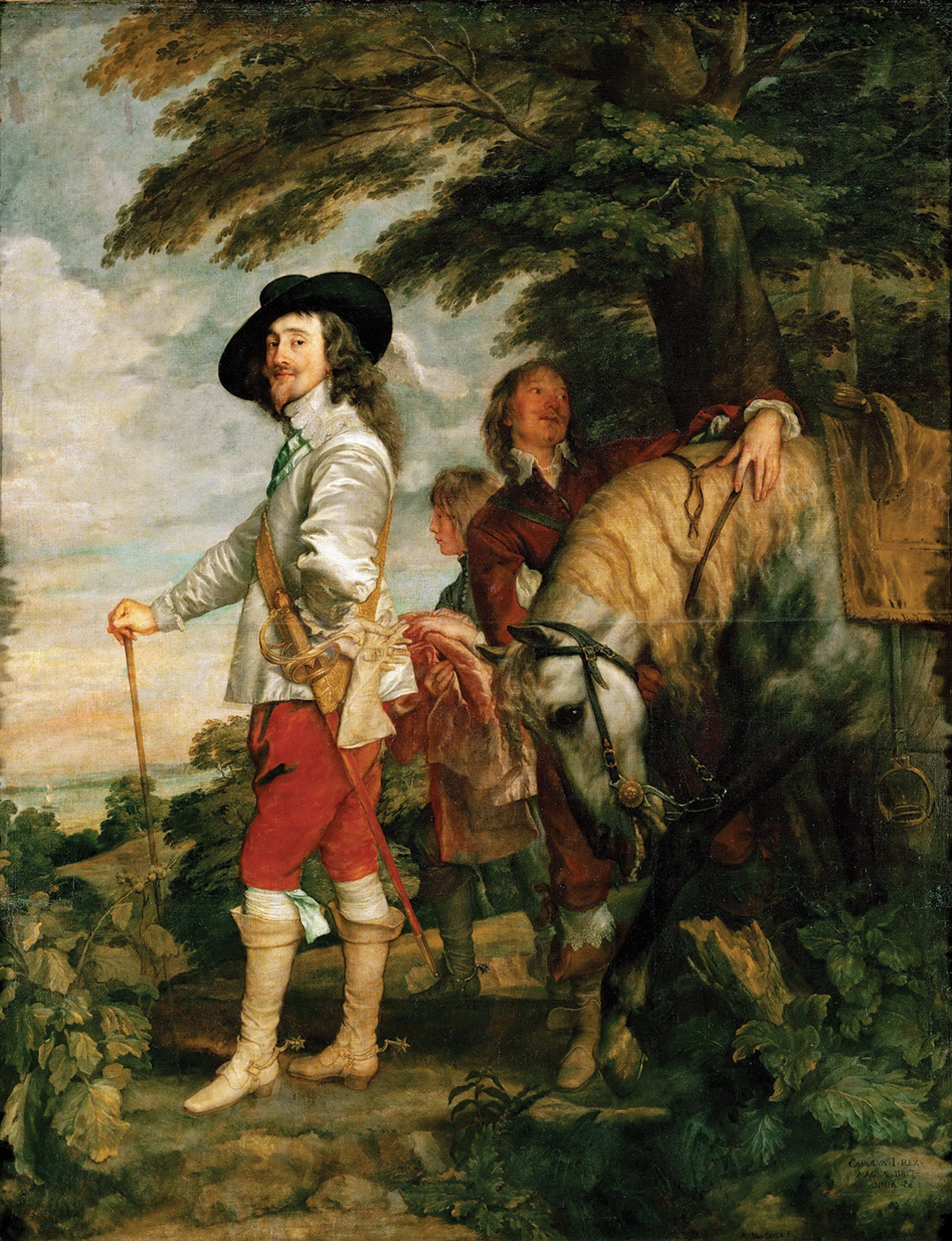 """""""The most romantic image of the king that exists"""": Anthony van Dyck, Charles I in the Hunting-Field (around 1636) Courtesy of the Musée du Louvre, Paris"""
