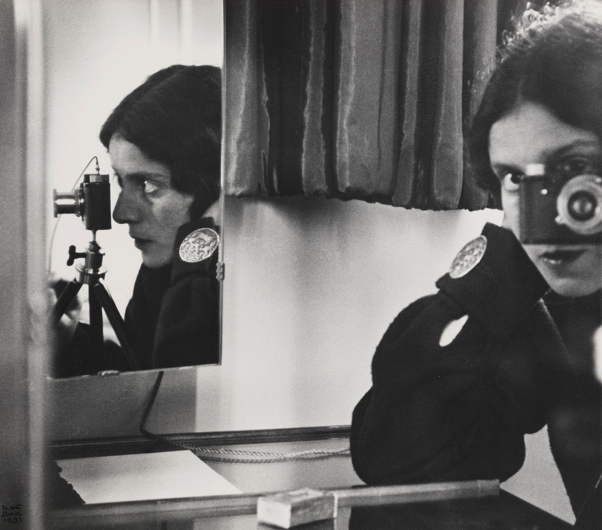Ilse Bing, Self-Portrait with Leica 1931 Collection of Michael Mattis and Judith Hochberg