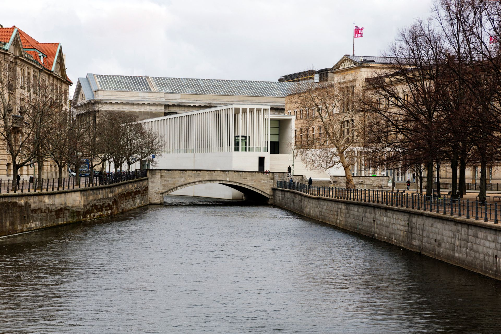 Unknown attackers sprayed oil on works in museums on Berlin's Museum Island this month © Ute Zscharnt für / for David Chipperfield Architects