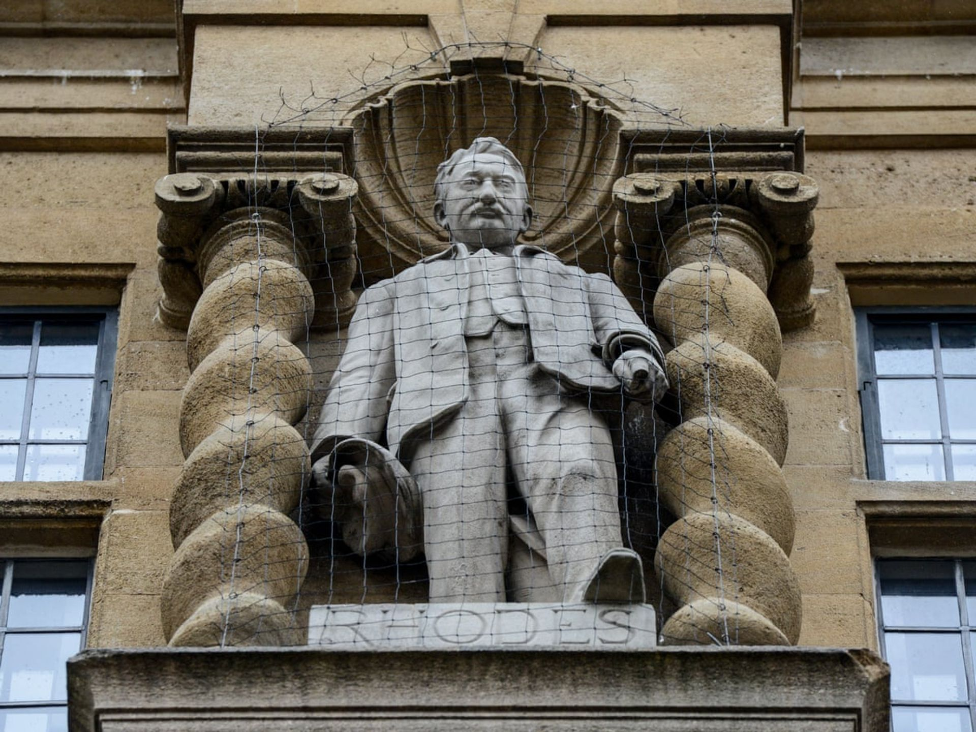 The Cecil Rhodes statue at Oriel College in Oxford