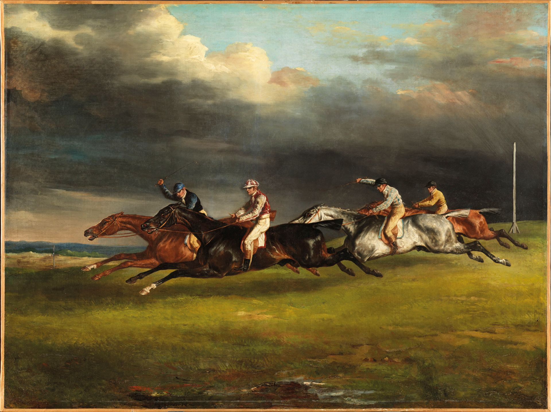 Théodore Géricault's Epsom Derby (1821) painted after the artist trained in London RMN, Grand Palais—Philippe Fuzeau
