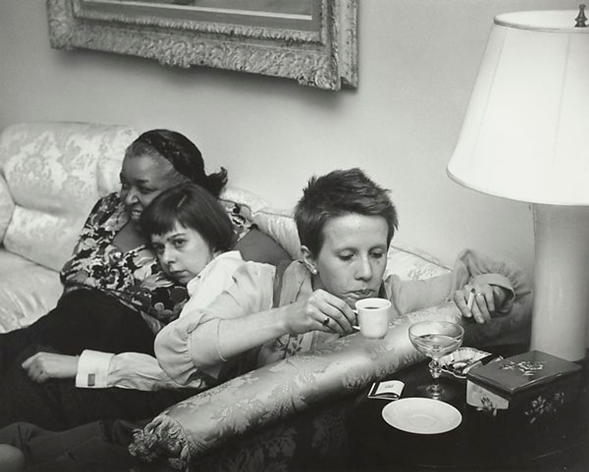 """Ethel Waters, Carson McCullers, and Julie Harris at the Opening Night Party for """"The Member of The Wedding,"""" New York City by Ruth Orkin © Ruth Orkin"""