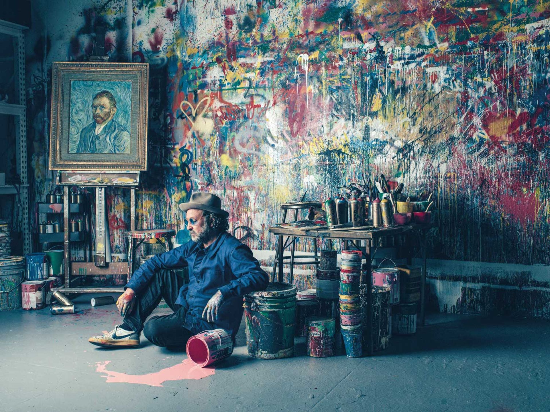 Mr Brainwash, who was the subject of Banksy's film Exit Through The Gift Shop, wants to create a fun atmosphere in the Beverly Hills space Sebastien Micke/Paris Match/Contour by Getty Images