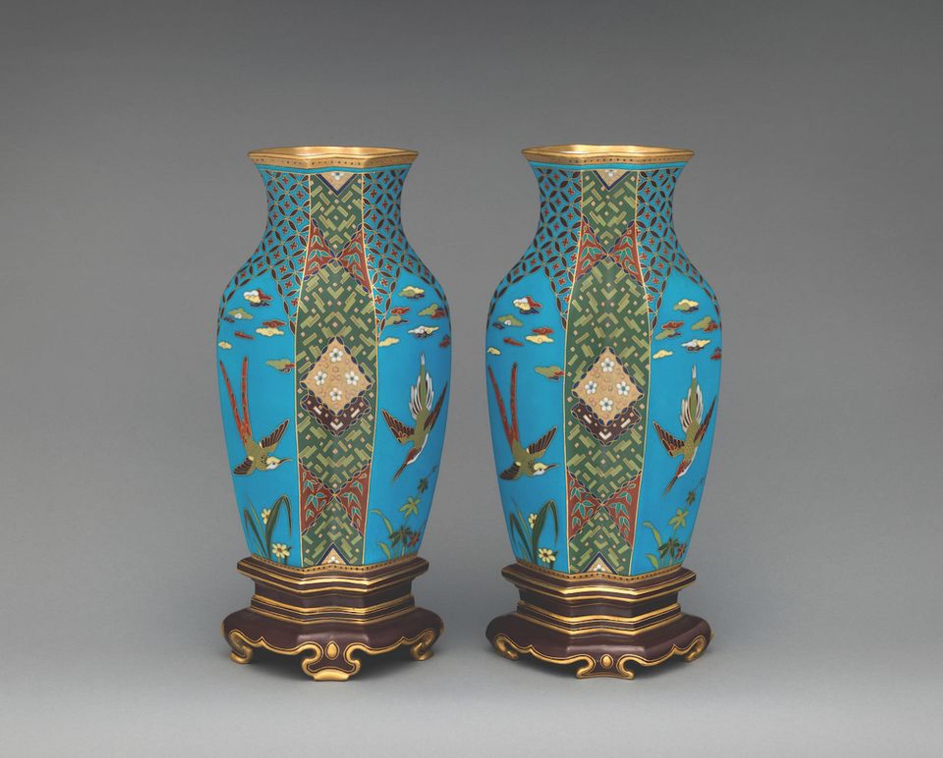 A pair of Christopher Dresser (1872- 80) earthenware vases are among the 700 works going on show in March The Metropolitan Museum of Art